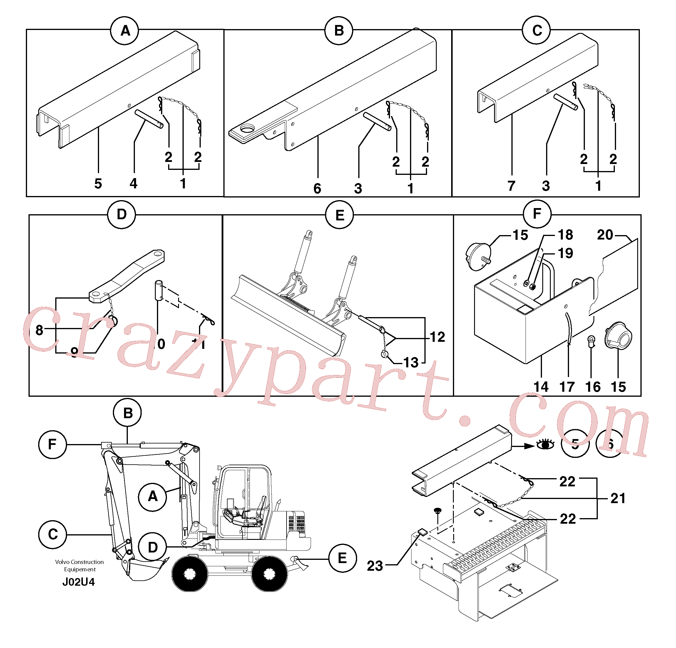 PJ3760091 for Volvo Safety device(J02U4 assembly)