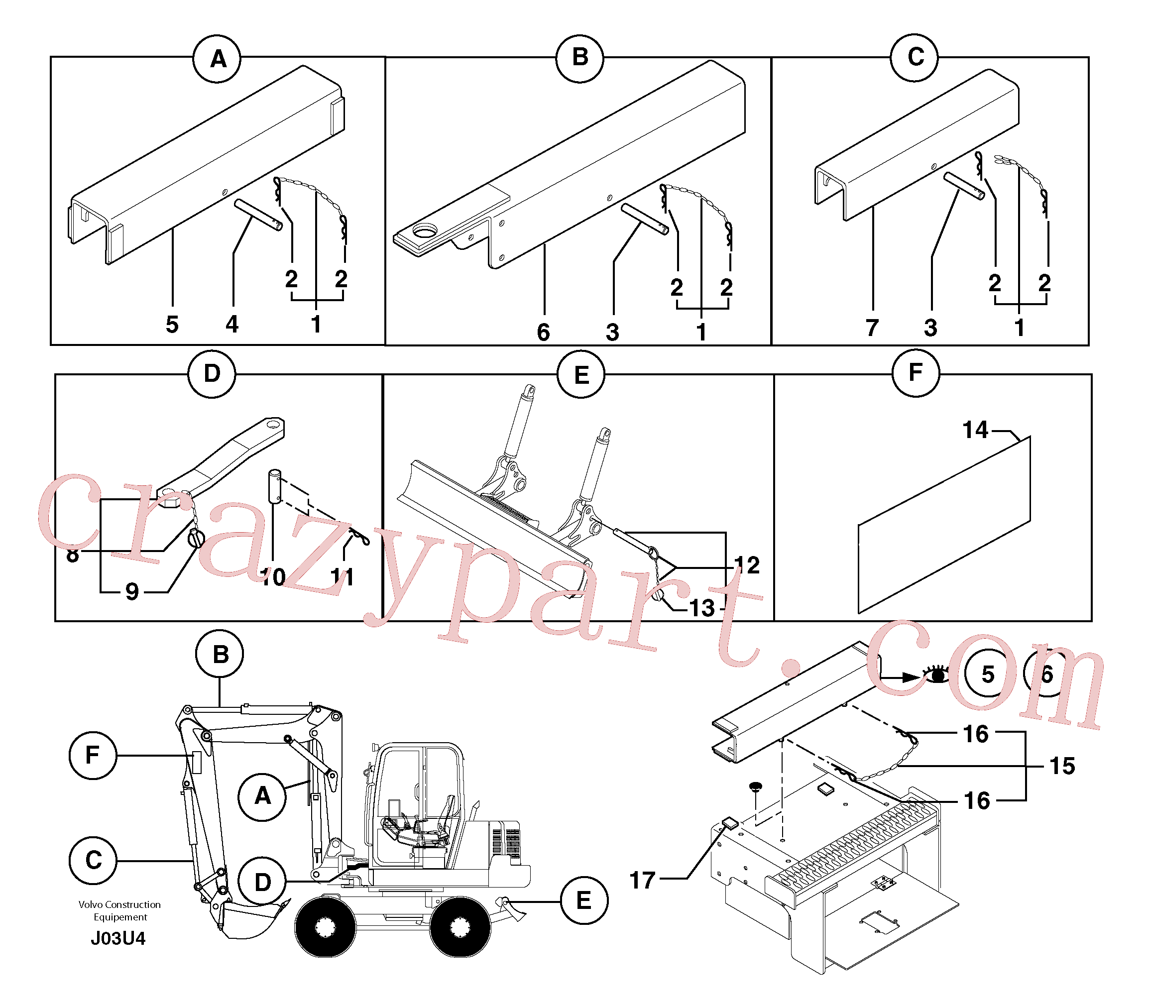 PJ3760091 for Volvo Safety device(J03U4 assembly)