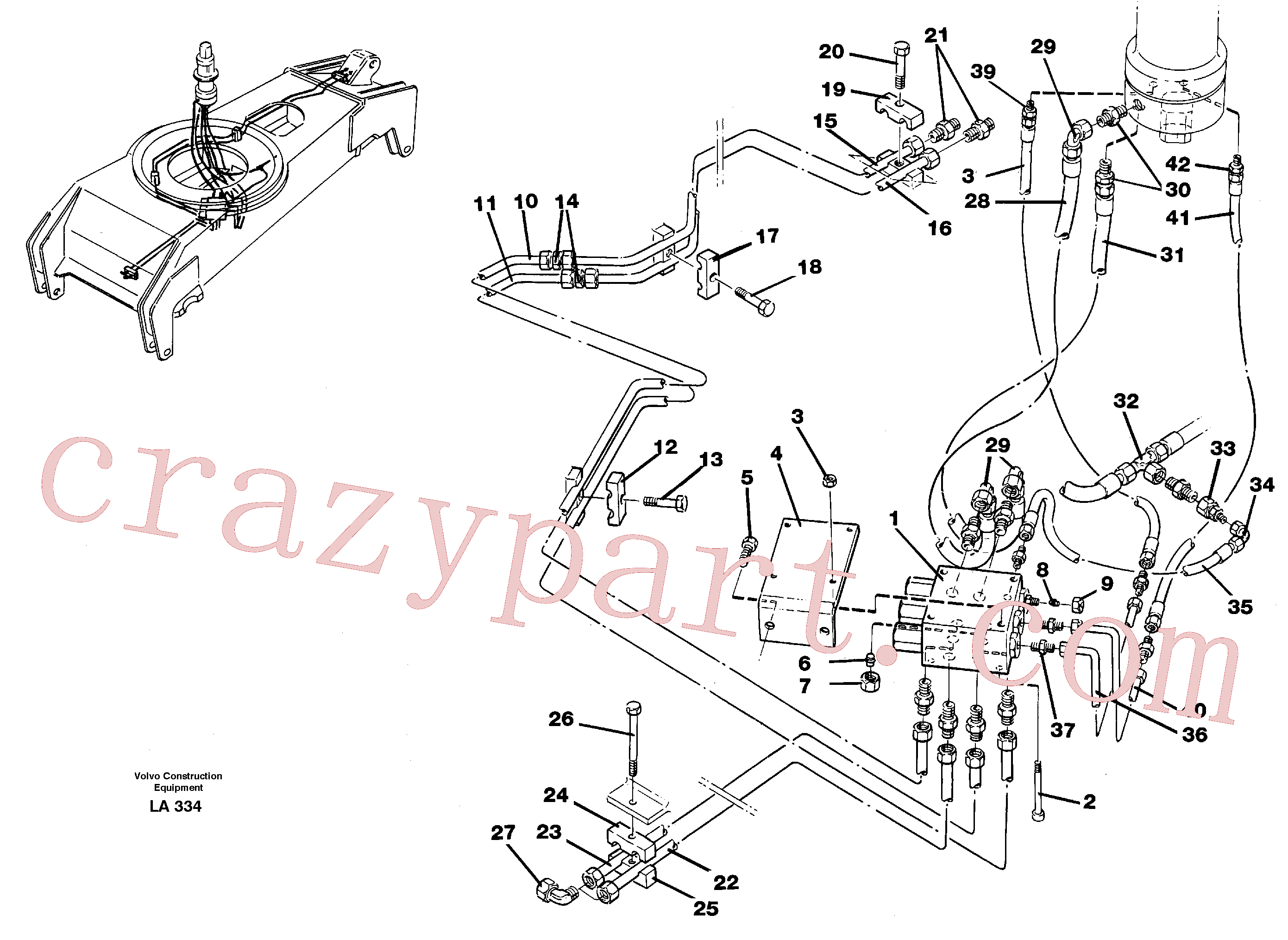 VOE14238107 for Volvo Hydraulicsystem, dozerblade,front and rear(LA334 assembly)