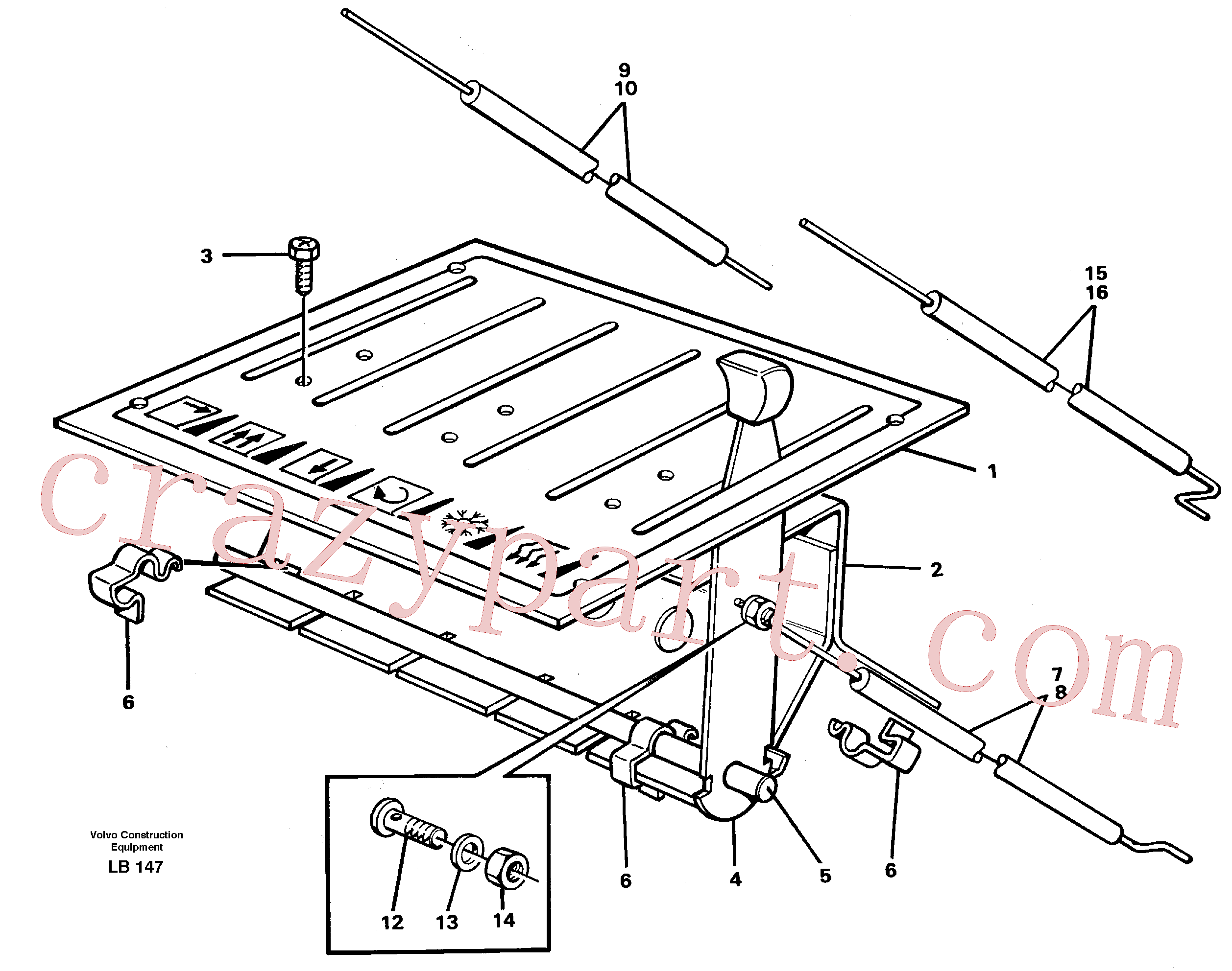 VOE14246694 for Volvo Heater control(LB147 assembly)