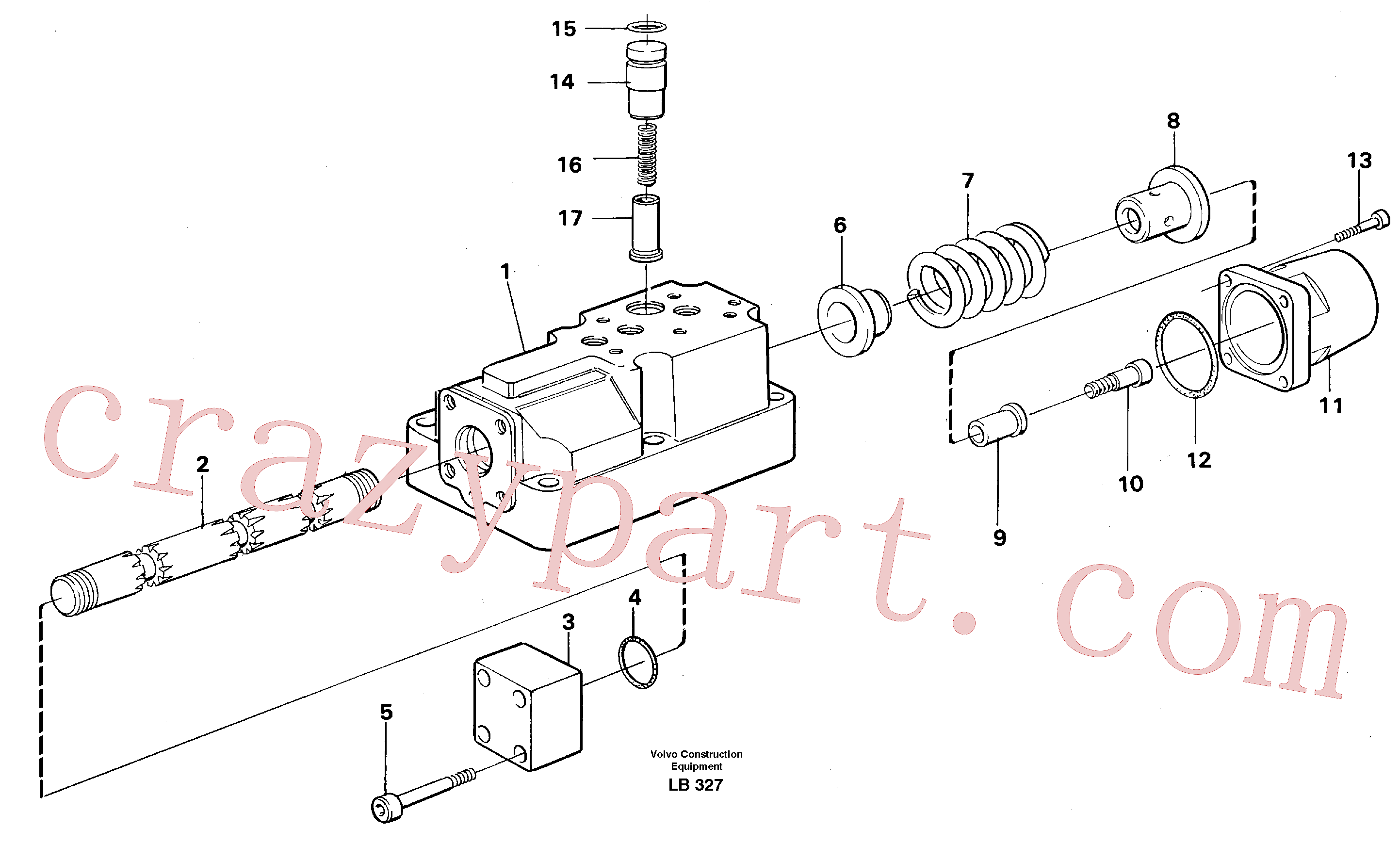 VOE14040428 for Volvo Four-way valve(LB327 assembly)
