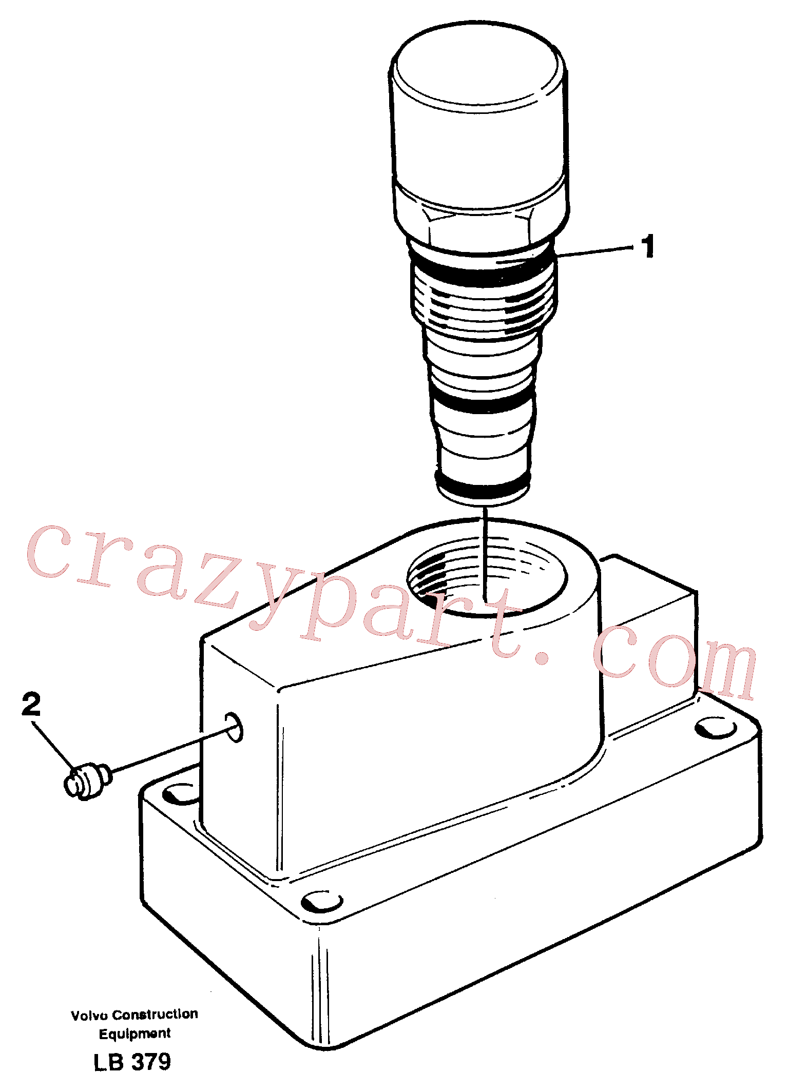 VOE15081662 for Volvo Pressure limiting valve, slewing(LB379 assembly)