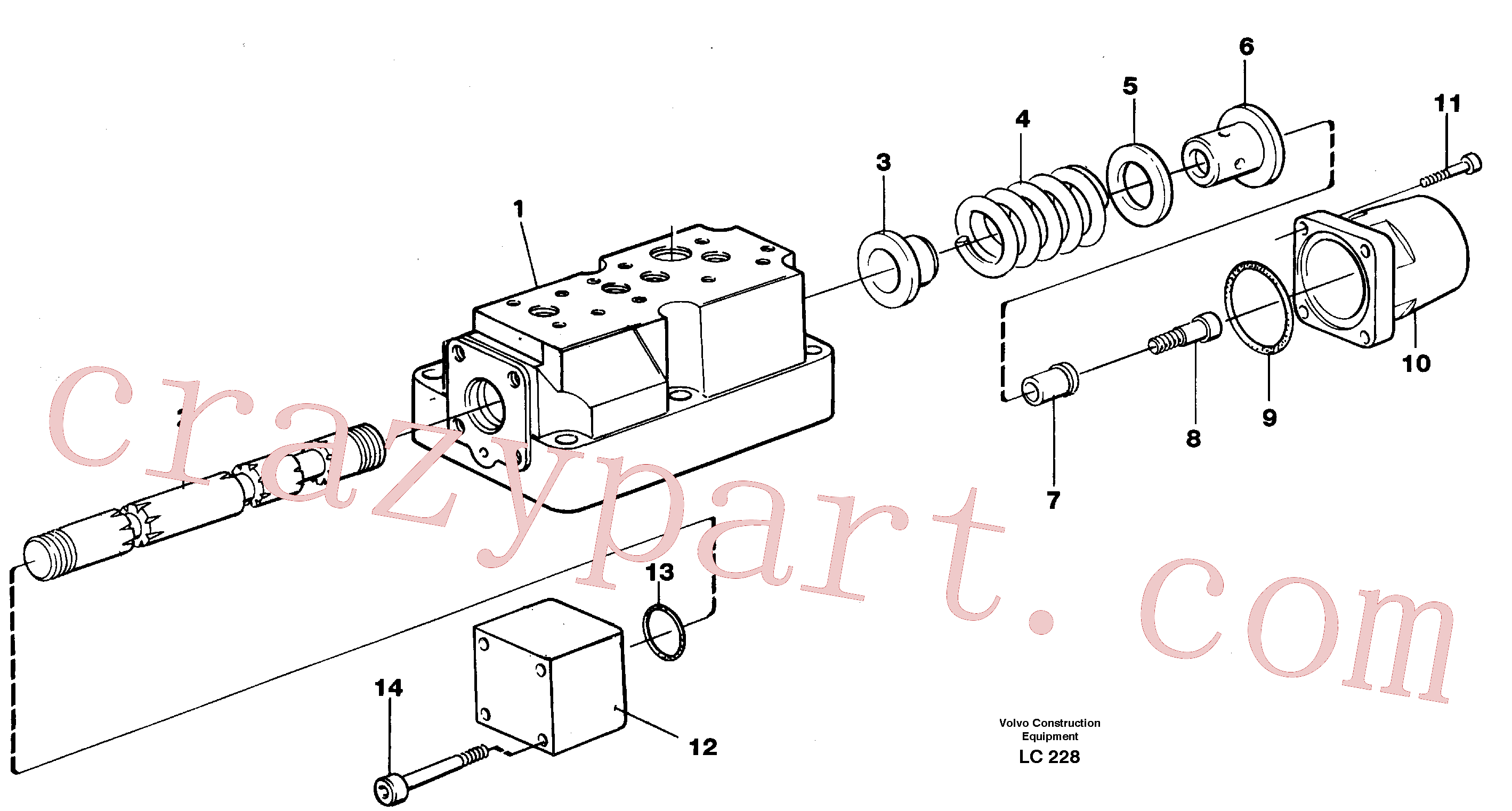 VOE977016 for Volvo Four-way valve, rotating equipment(LC228 assembly)
