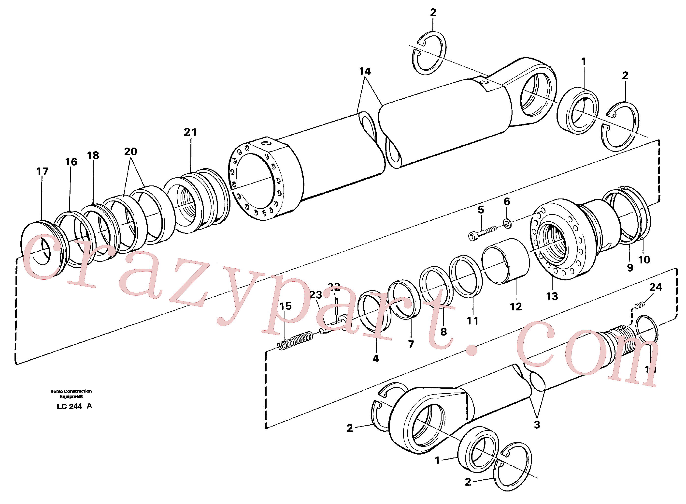VOE14216286 for Volvo Boom cylinder,m.e.(LC244A assembly)