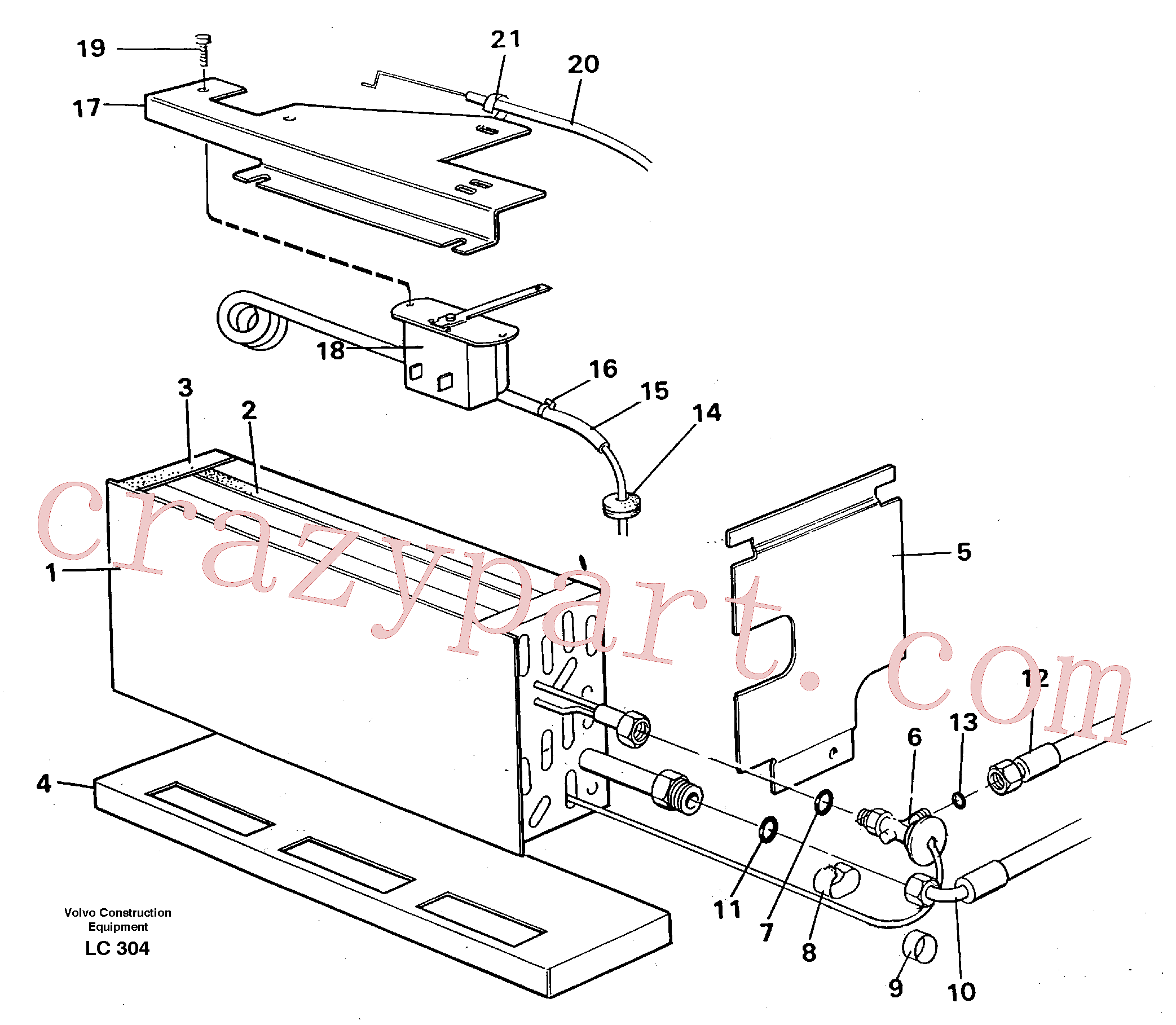VOE14213544 for Volvo Evaporator with fitting parts, cooling agent R134a(LC304 assembly)