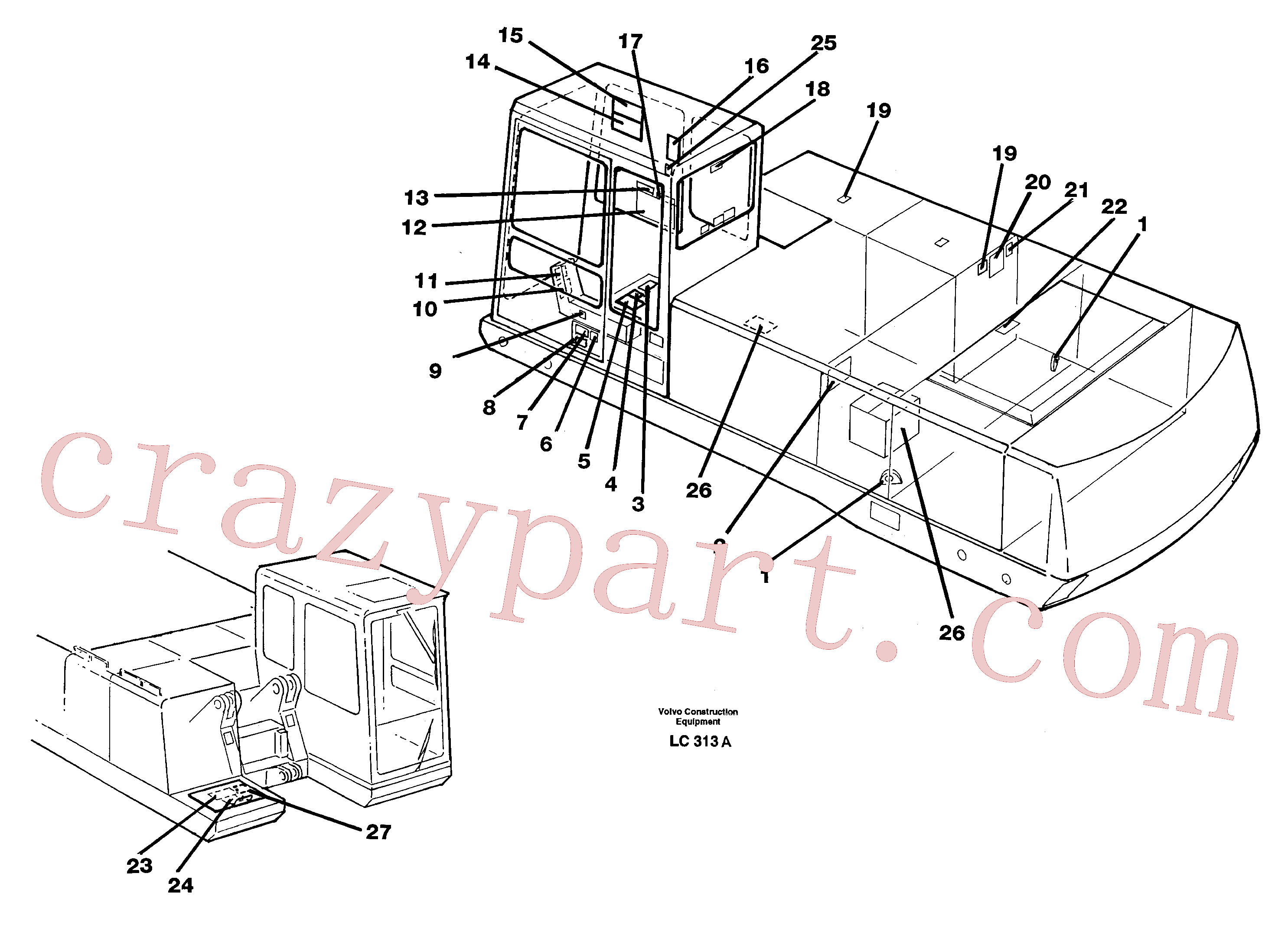 VOE4898495 for Volvo Sign plates and transfer,inner location(LC313A assembly)