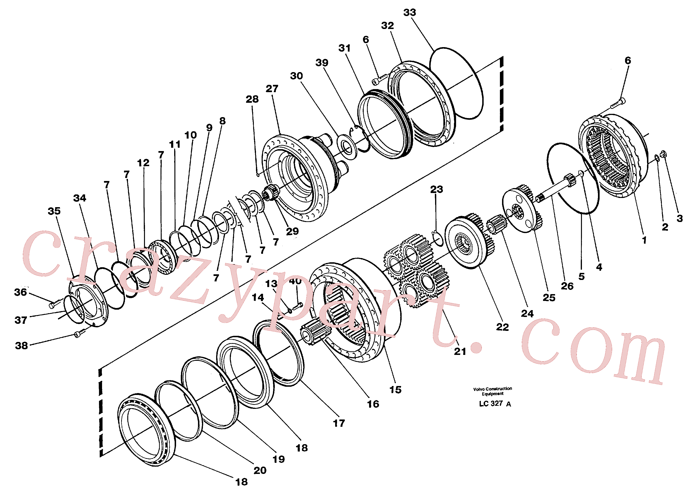 China Made VOE11701207 Bearing parts for Volvo Excavator