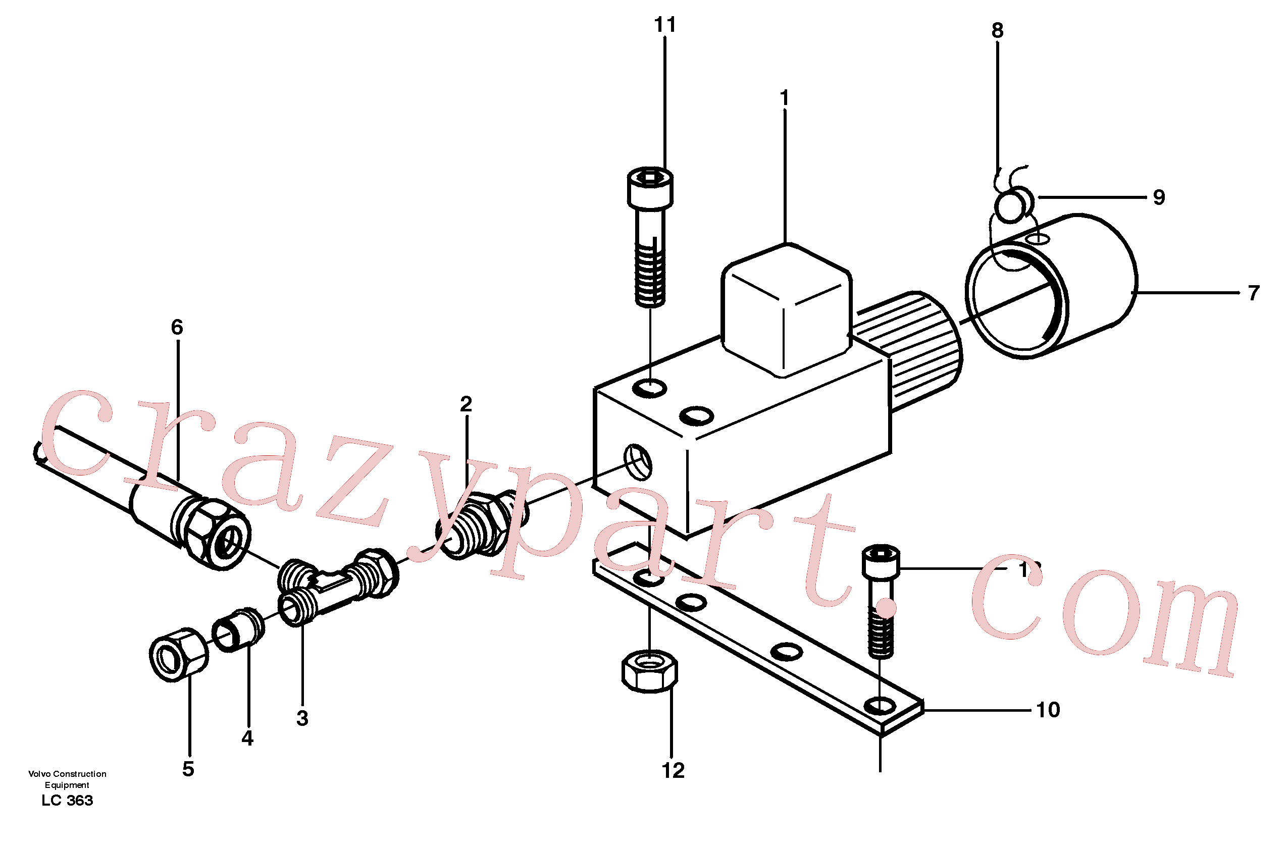 VOE14258323 for Volvo Valve, Load indicator(LC363 assembly)