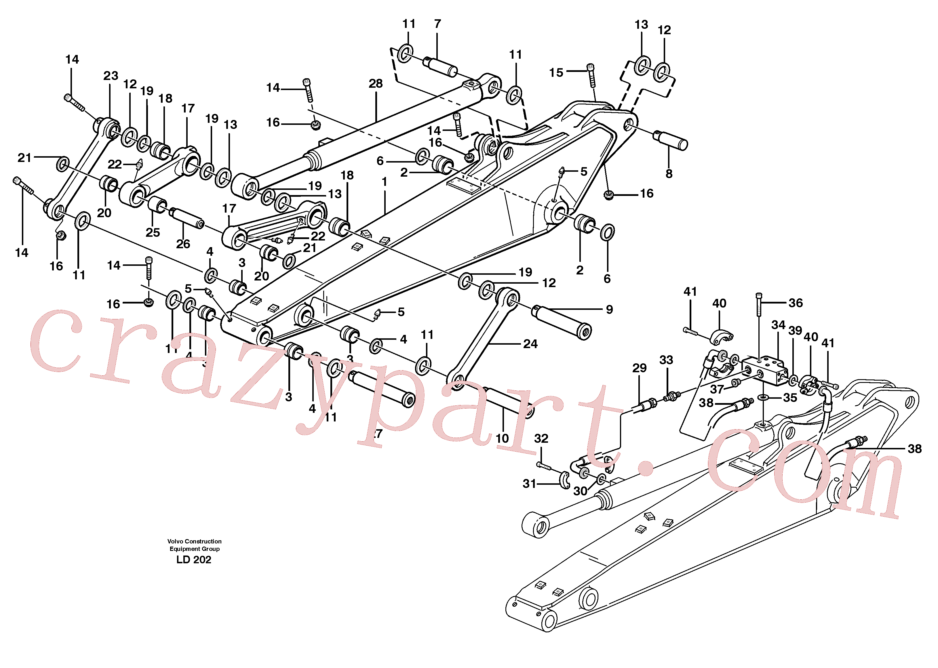 VOE14370081 for Volvo Dipper arm incl. connect.(LD202 assembly)