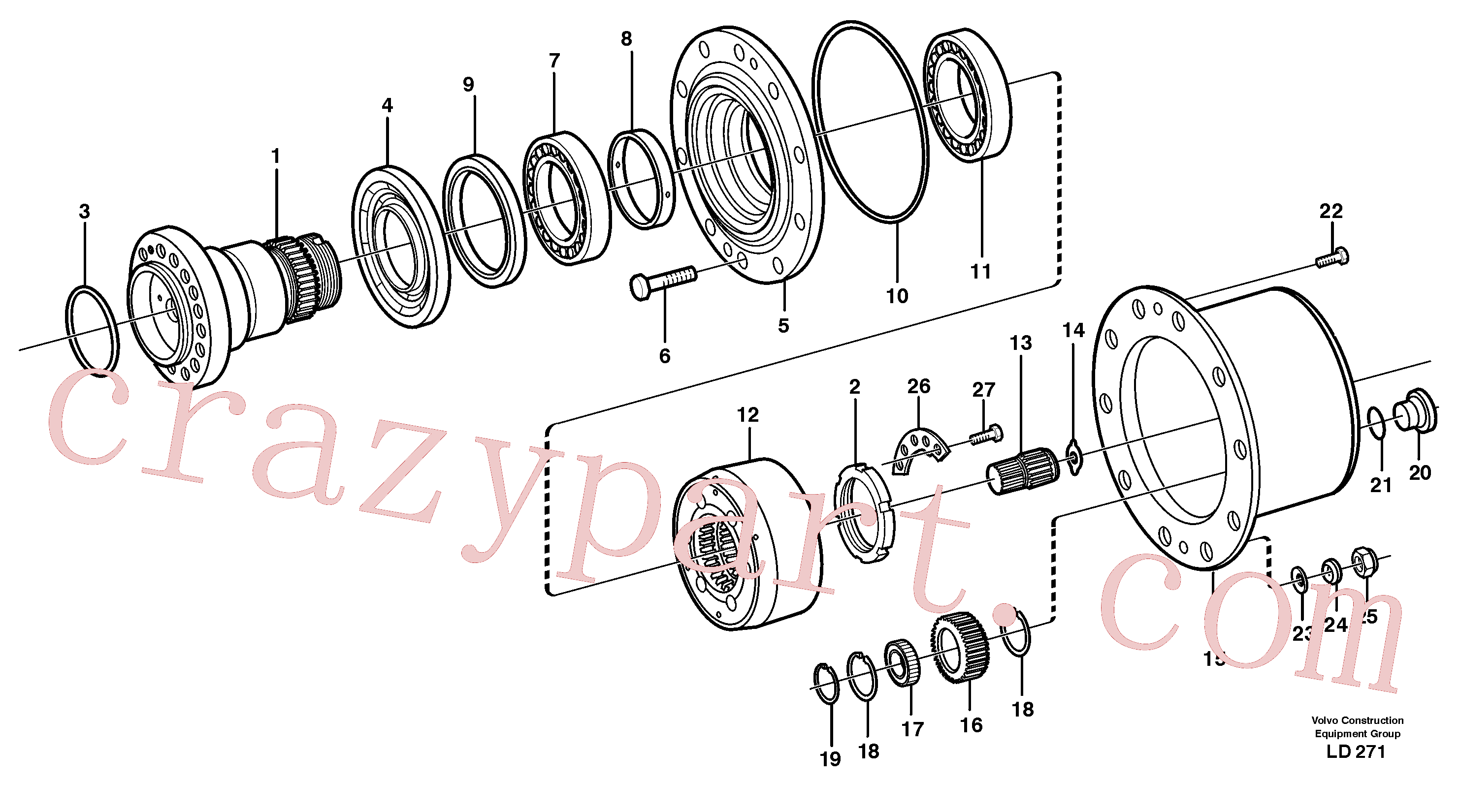 ZM5227733 for Volvo Hub retainer and planet carrier(LD271 assembly)