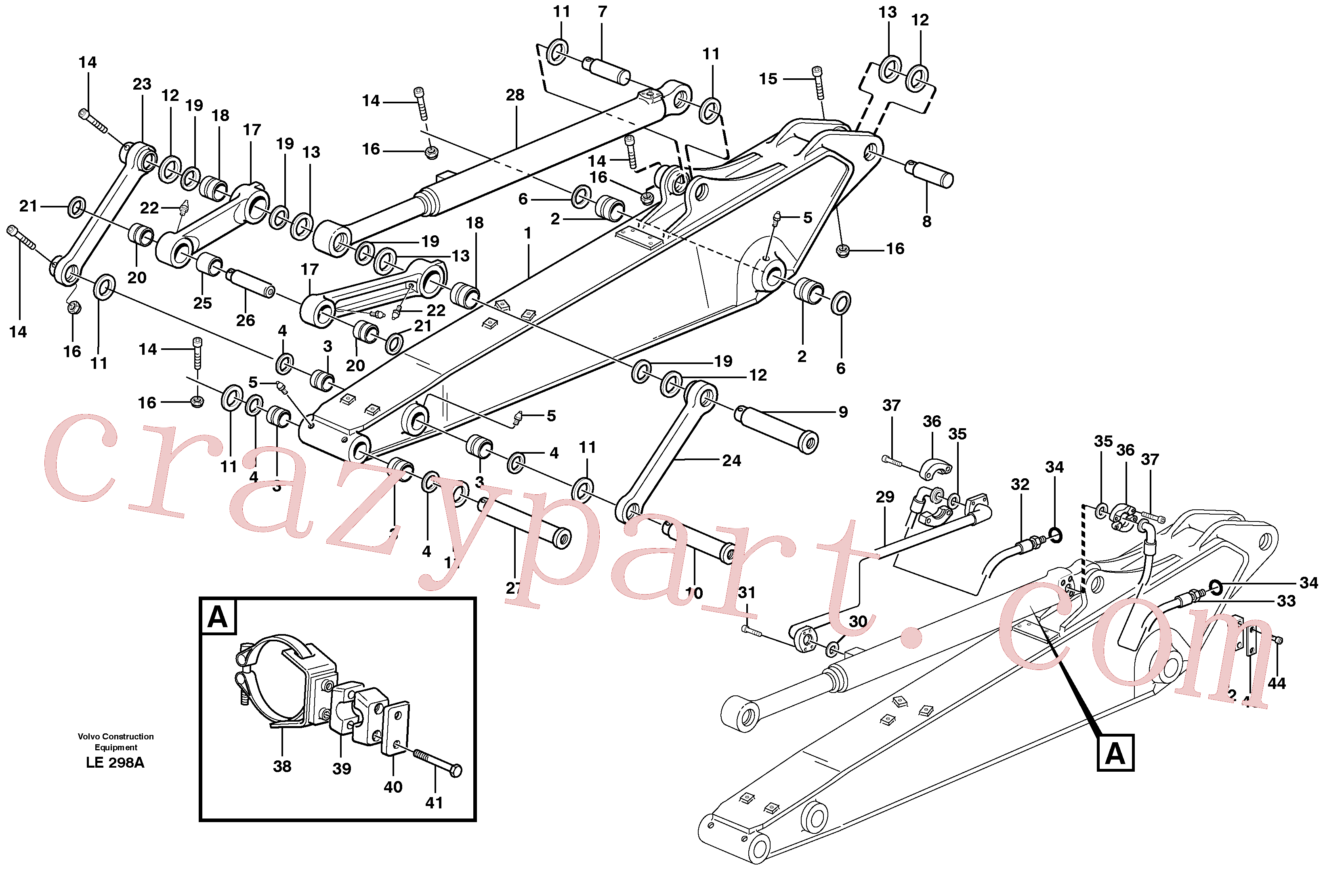 VOE14370081 for Volvo Dipper arm incl. connect.(LE298A assembly)