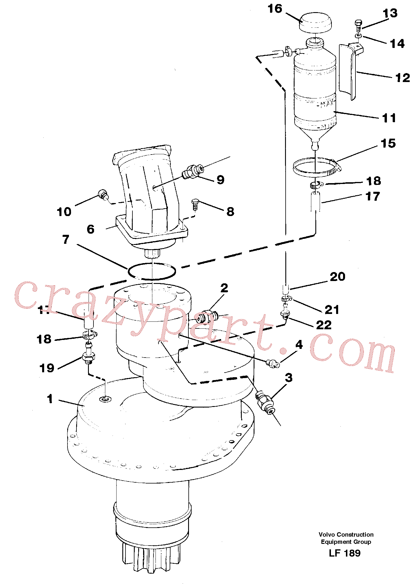 VOE14012414 for Volvo Slewing gear box, compl.(LF189 assembly)