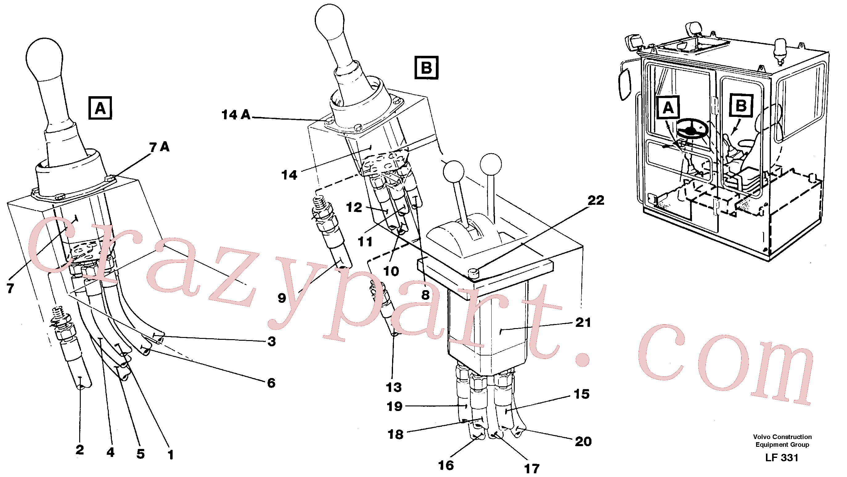 VOE14023236 for Volvo Joy Stick Left and Right(LF331 assembly)