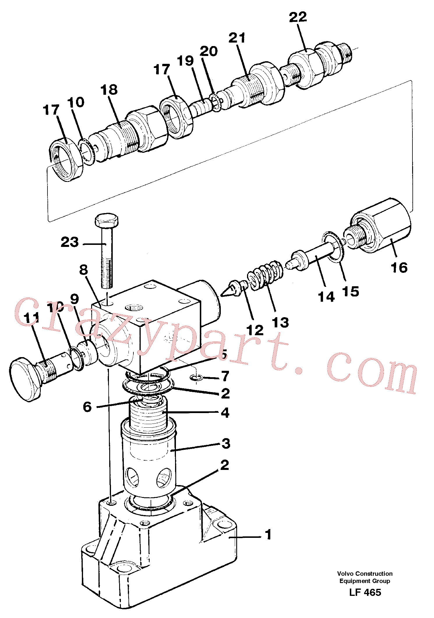 VOE14235611 for Volvo Pressure limiting valve(LF465 assembly)