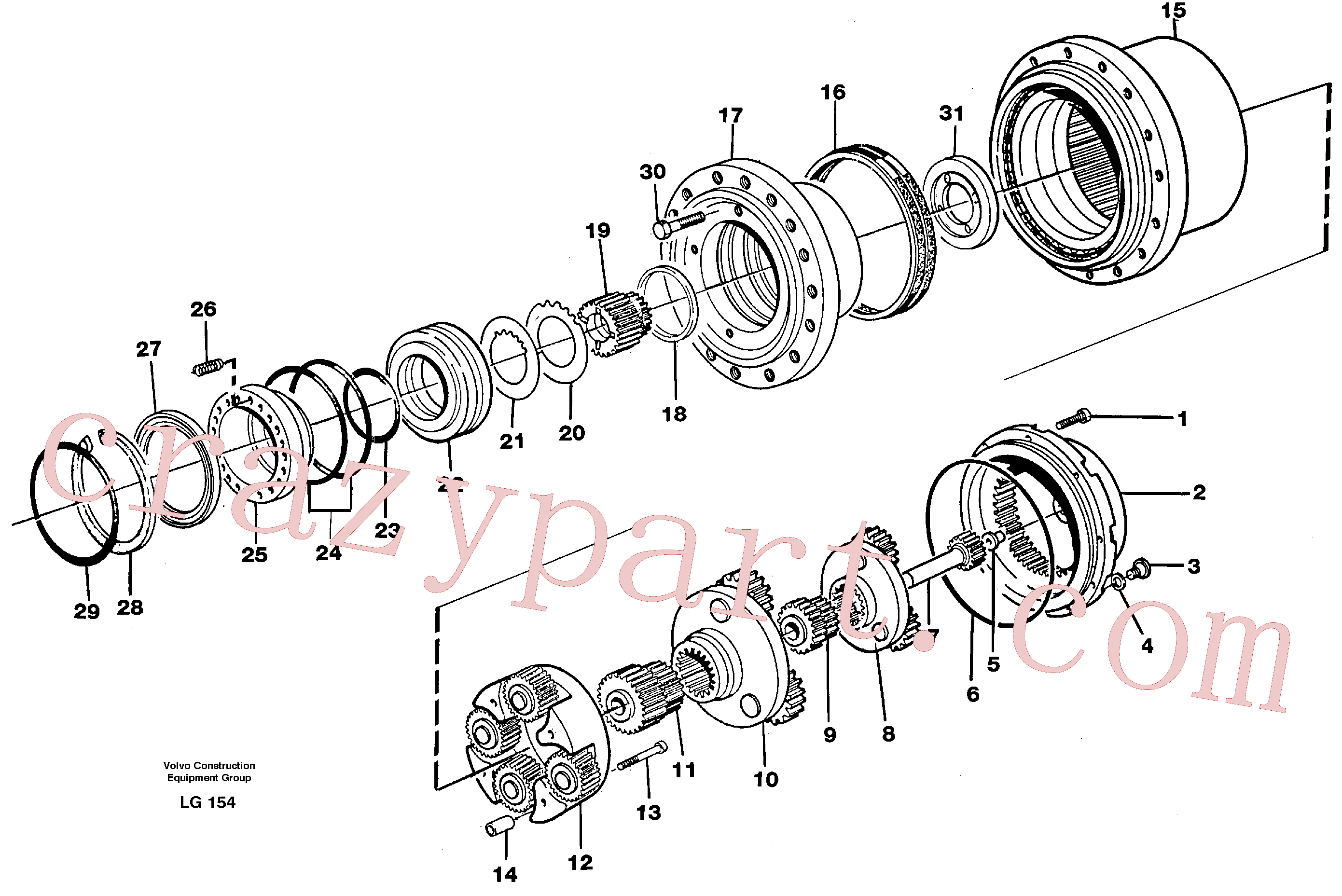 RM20341566 for Volvo Planetary gear, travel(LG154 assembly)