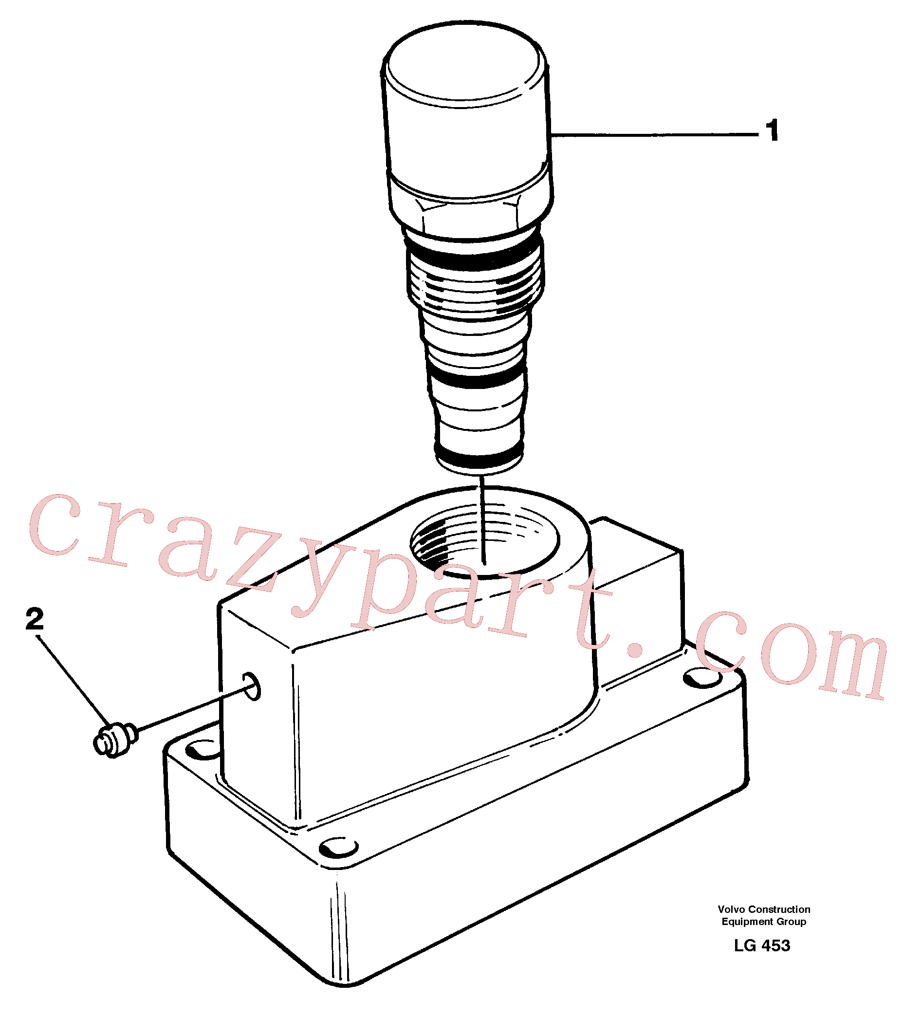 VOE15081662 for Volvo Pressure limiting valve(LG453 assembly)