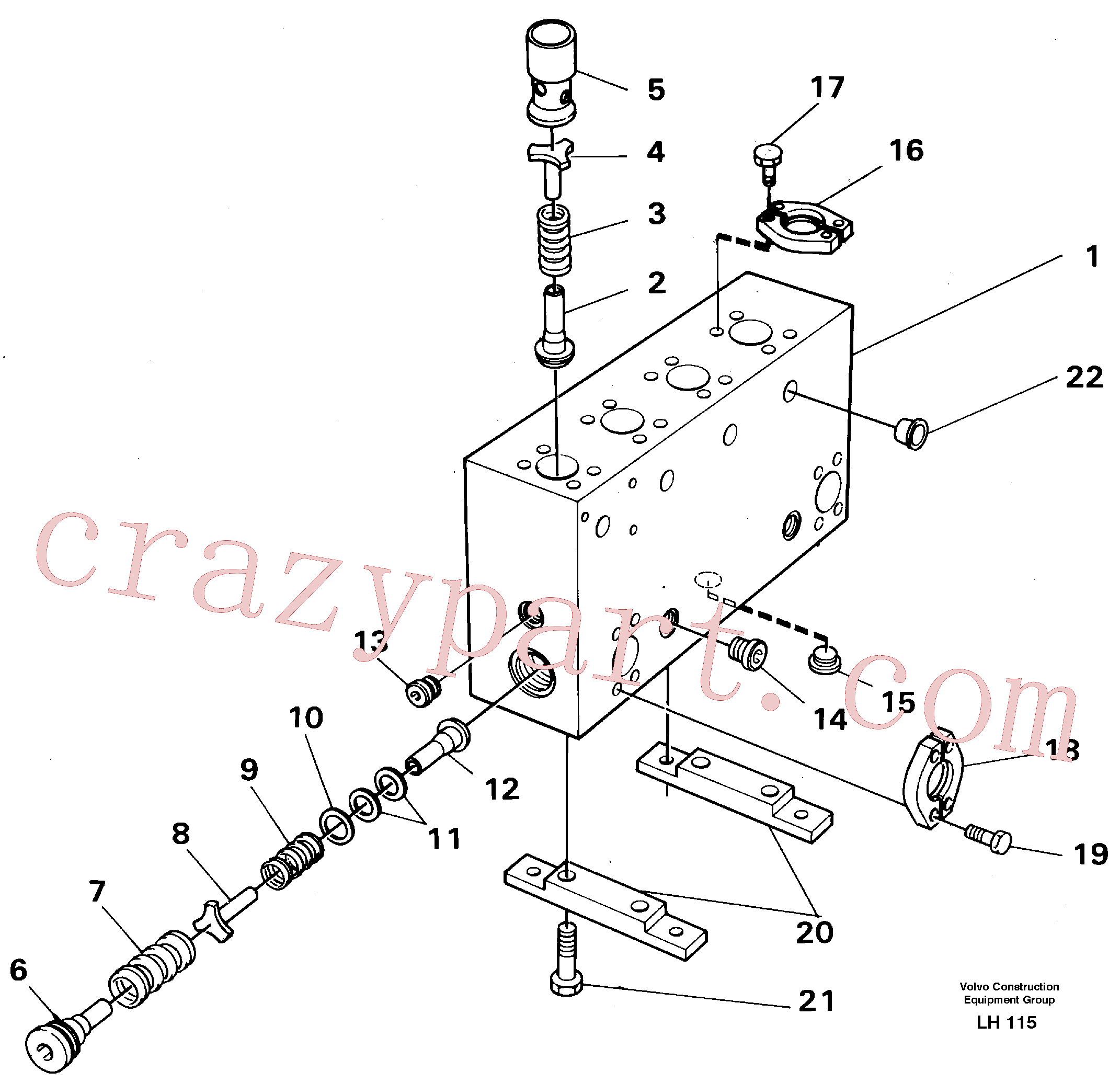 VOE14043301 for Volvo Connection board(LH115 assembly)