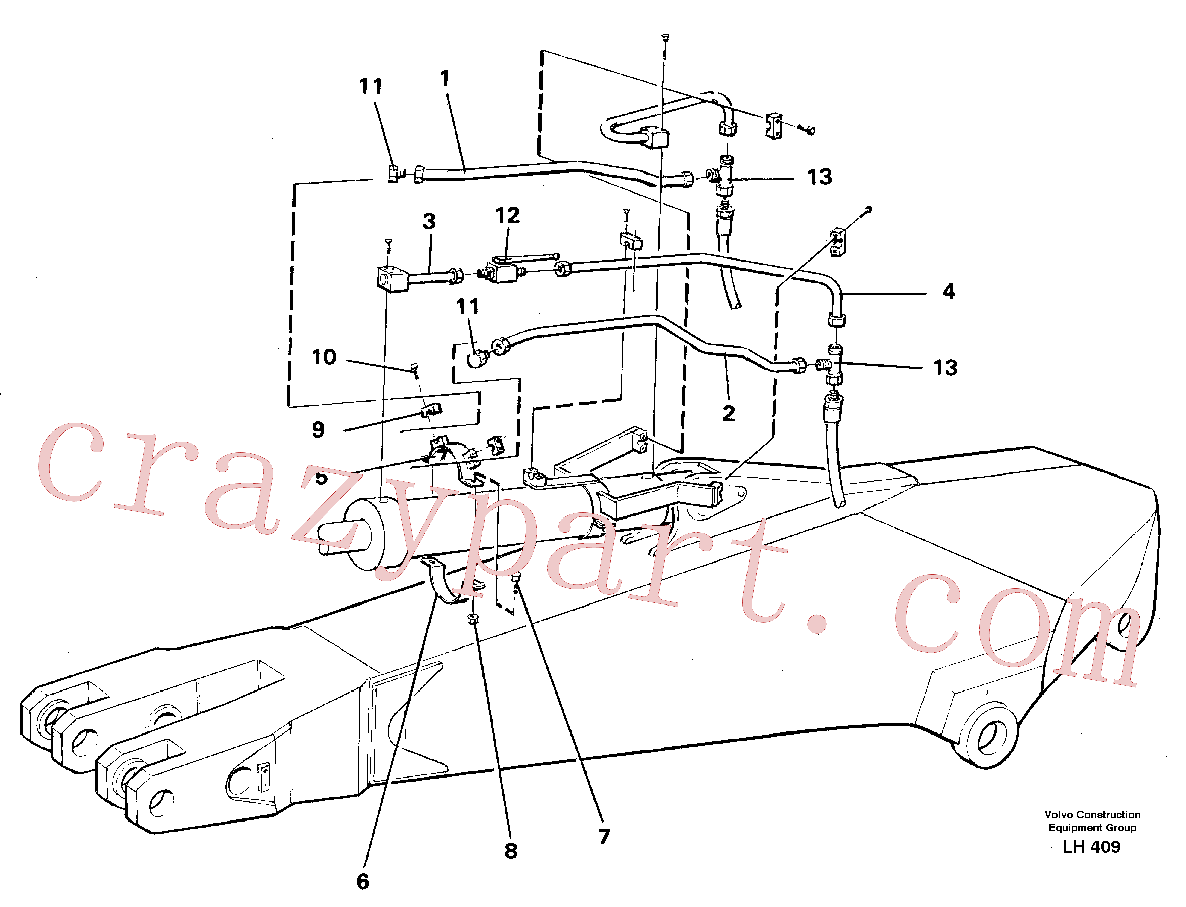 VOE14254935 for Volvo Parallel connected grab hydraulics on dipper arm(LH409 assembly)