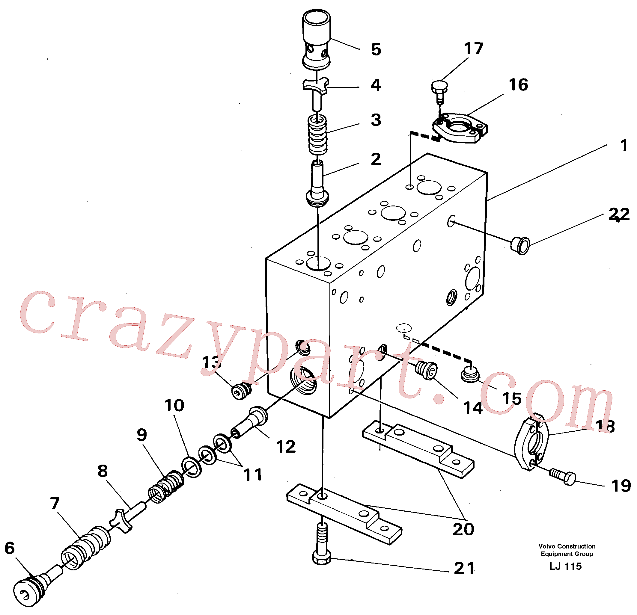 VOE14043301 for Volvo Connection board(LJ115 assembly)