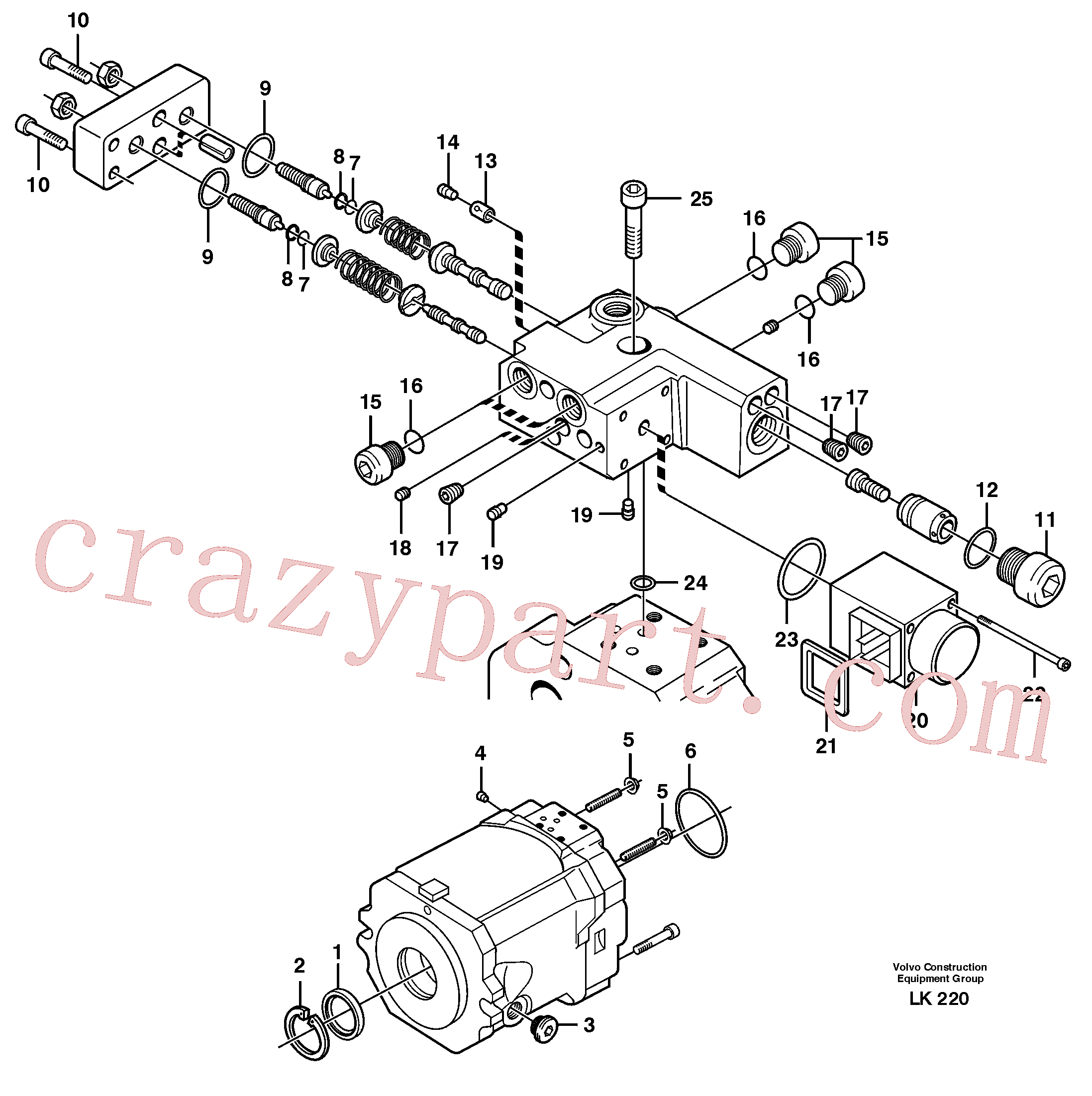 VOE11705602 for Volvo Hydraulic pump(LK220 assembly)