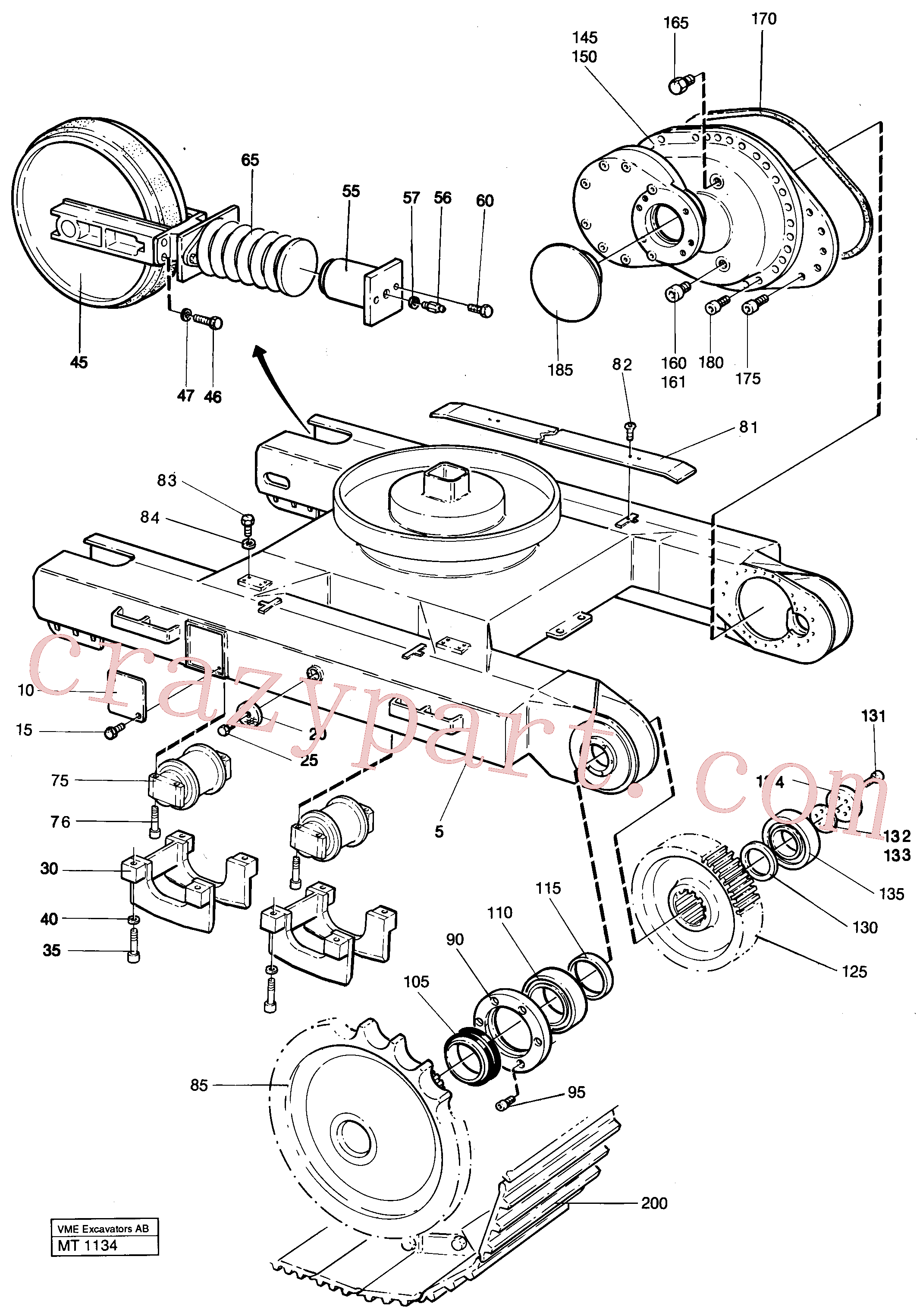 VOE1506370 for Volvo Undercarriage Ec 230 Undercarriage Ec 229(MT1134 assembly)