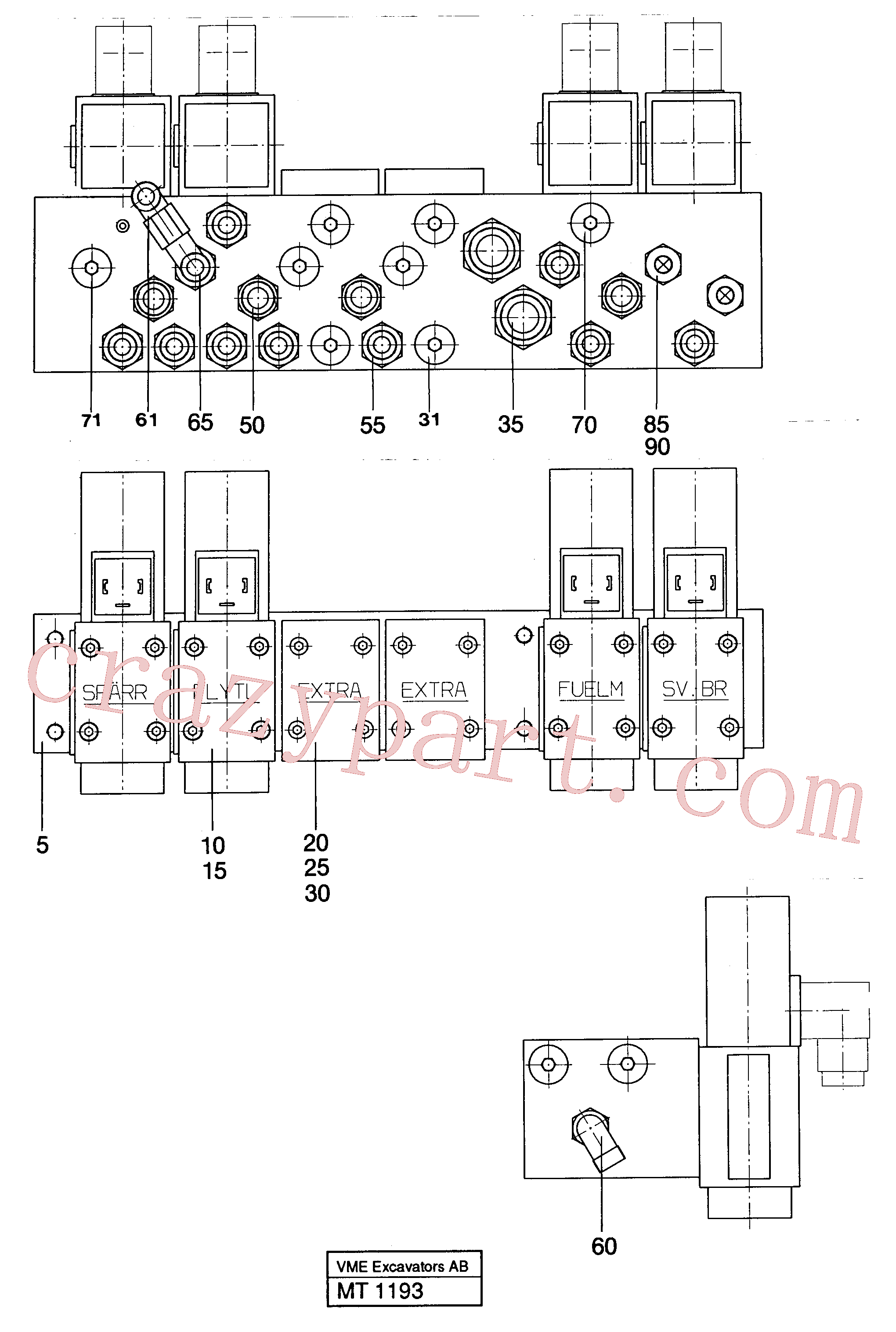 VOE14012446 for Volvo Valve assembly for control with con- nections(MT1193 assembly)