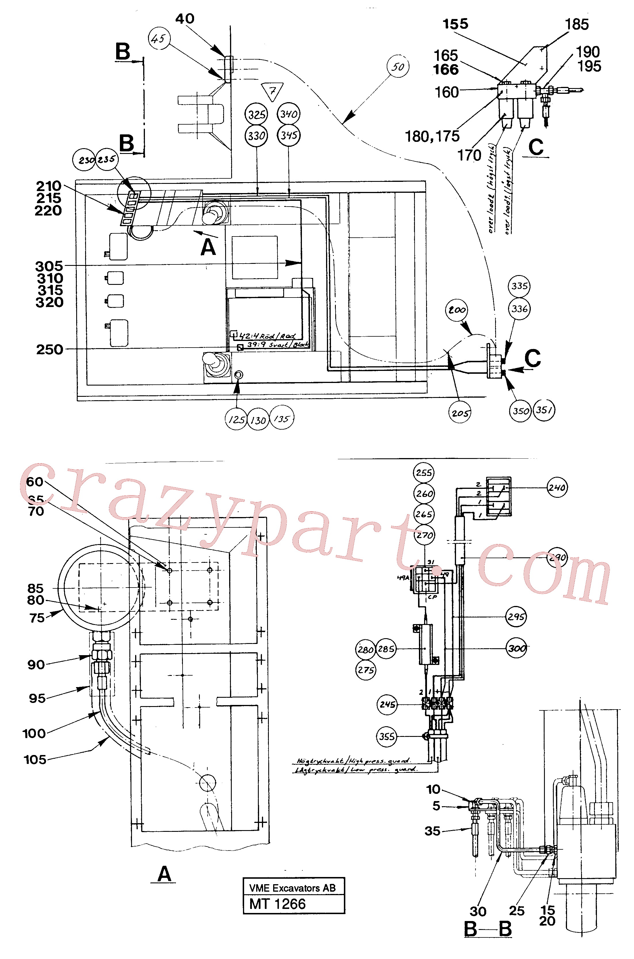 VOE14248873 for Volvo Load limiting device(MT1266 assembly)