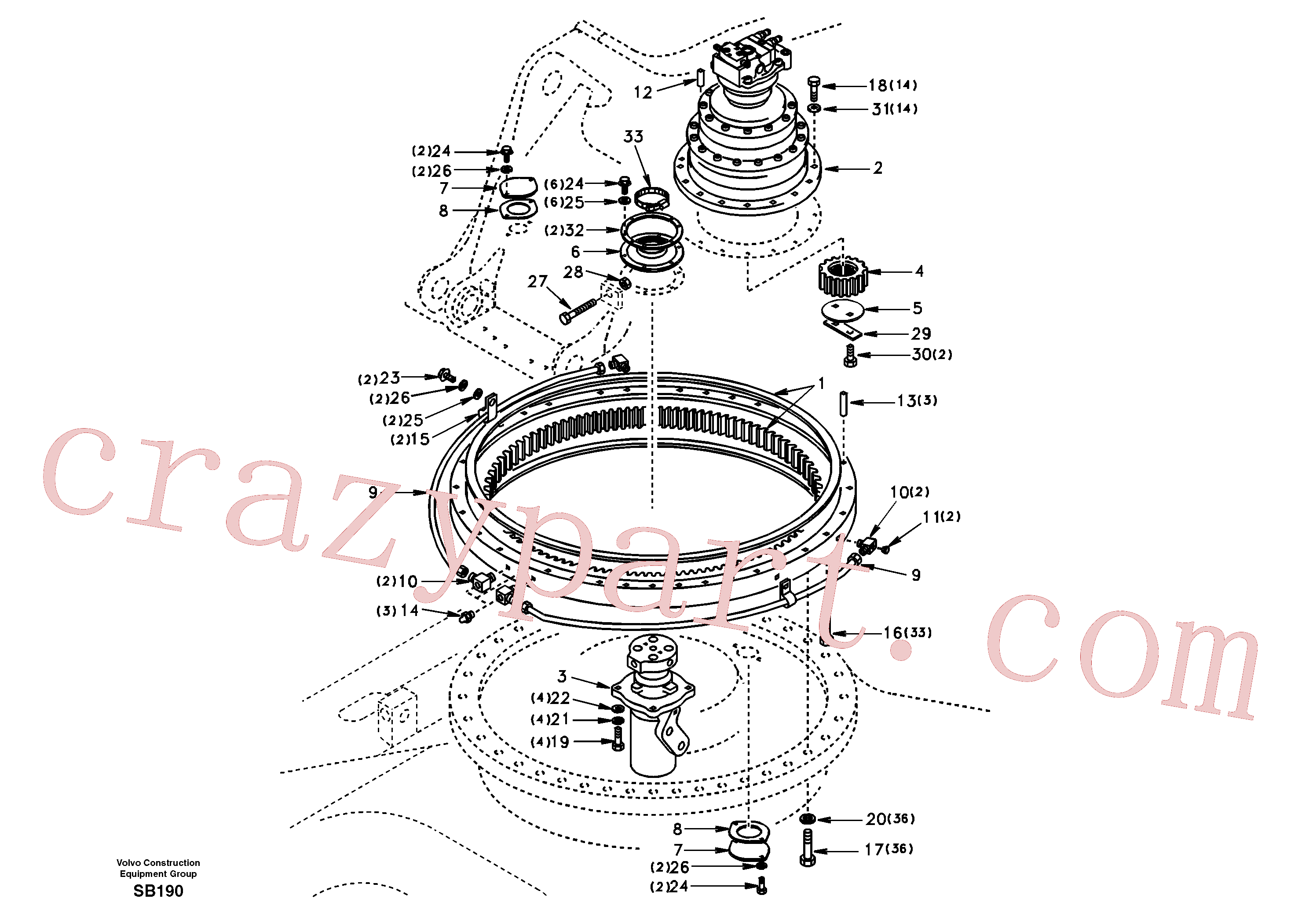 VOE14511866 for Volvo Swing system(SB190 assembly)