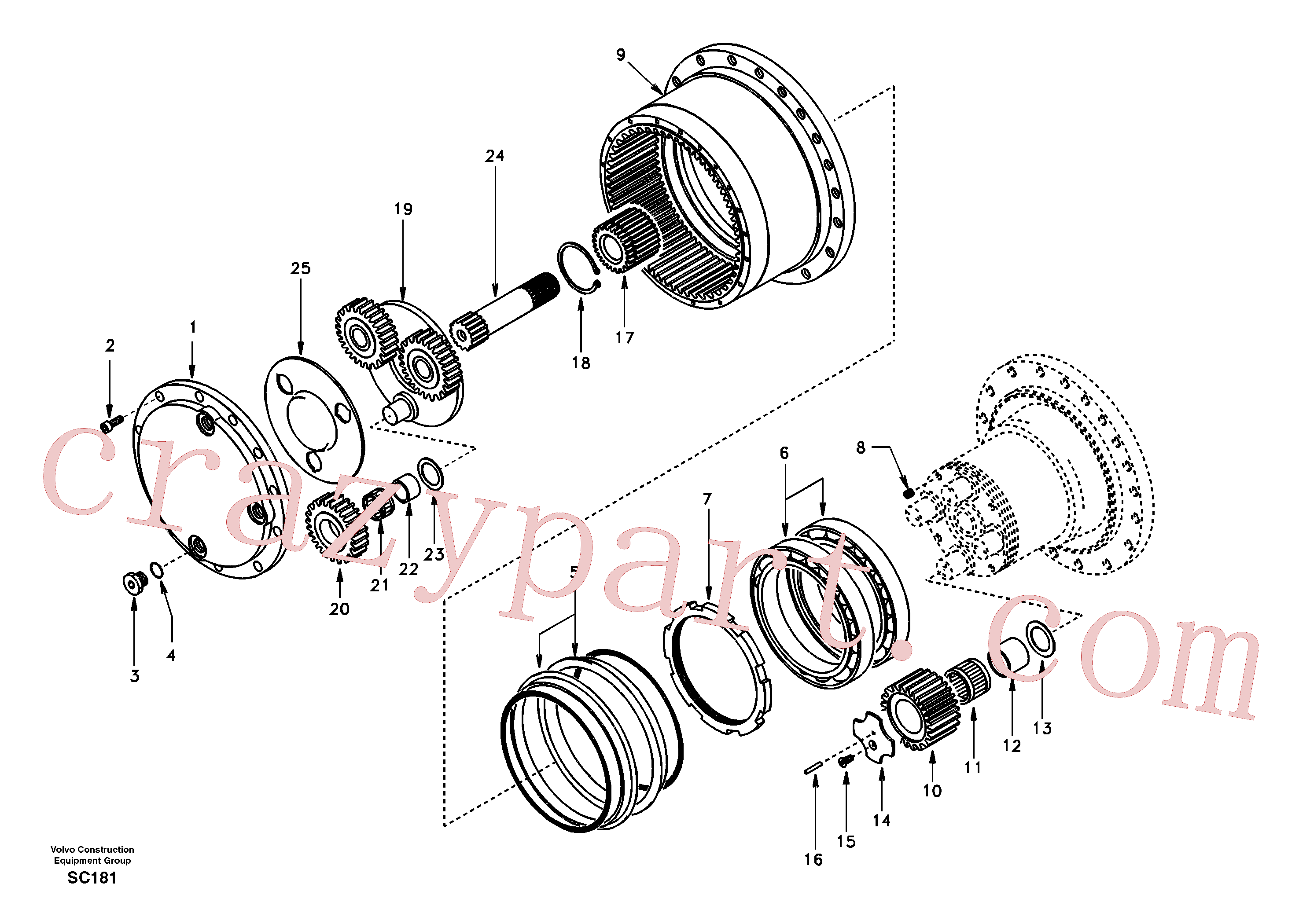 SA8230-33470 for Volvo Travel gearbox(SC181 assembly)