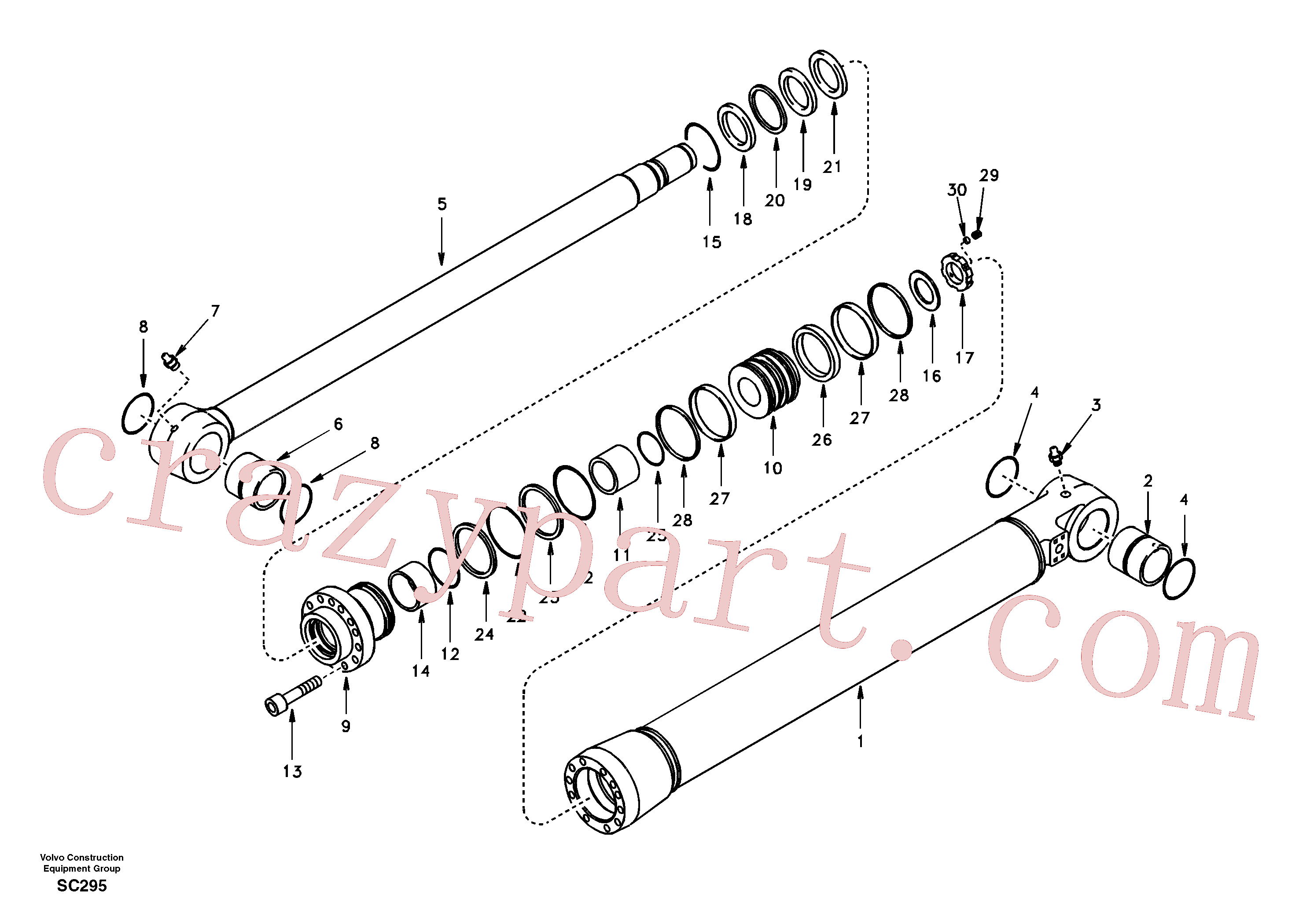 VOE14501130 for Volvo Bucket cylinder(SC295 assembly)