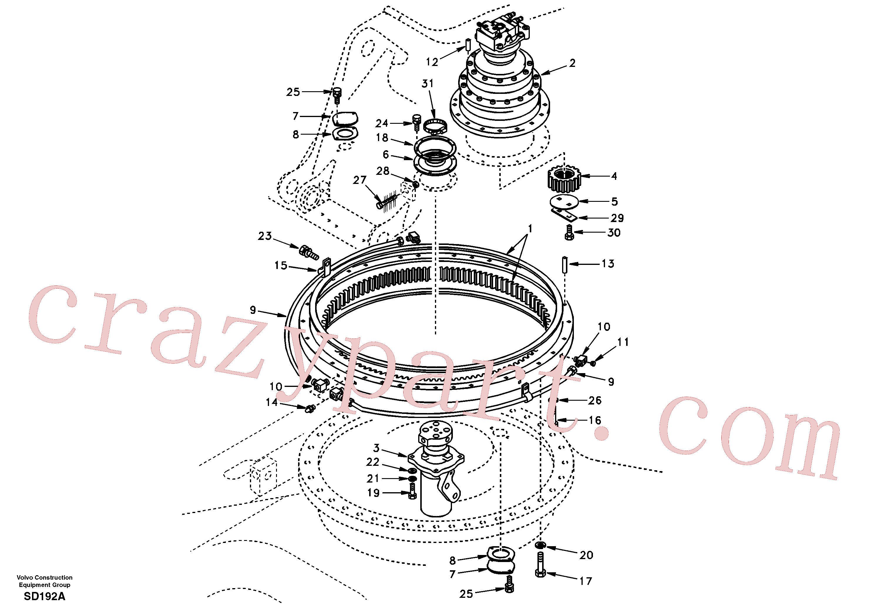 VOE14511866 for Volvo Swing system(SD192A assembly)