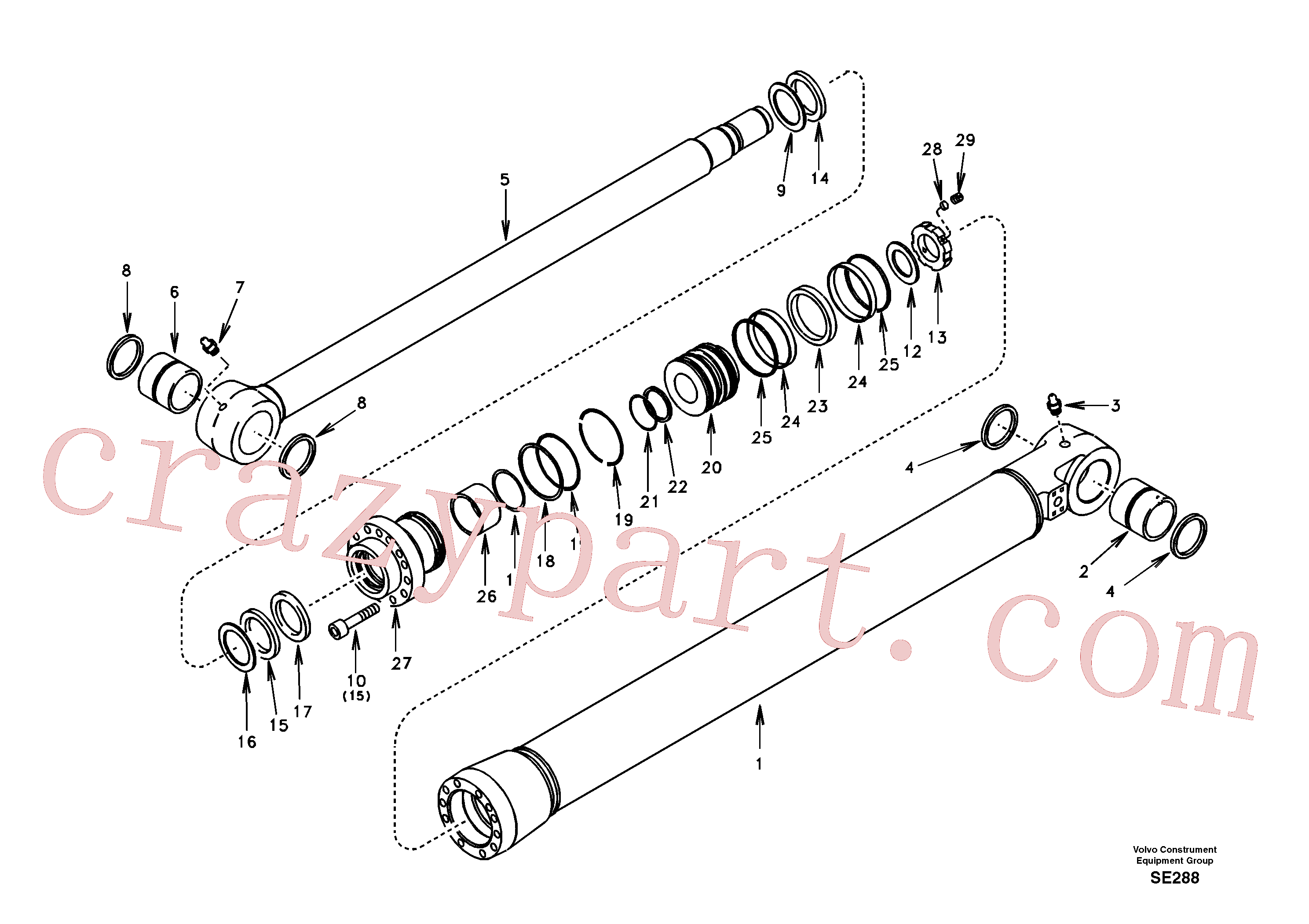 SA1146-07460 for Volvo Bucket cylinder(SE288 assembly)