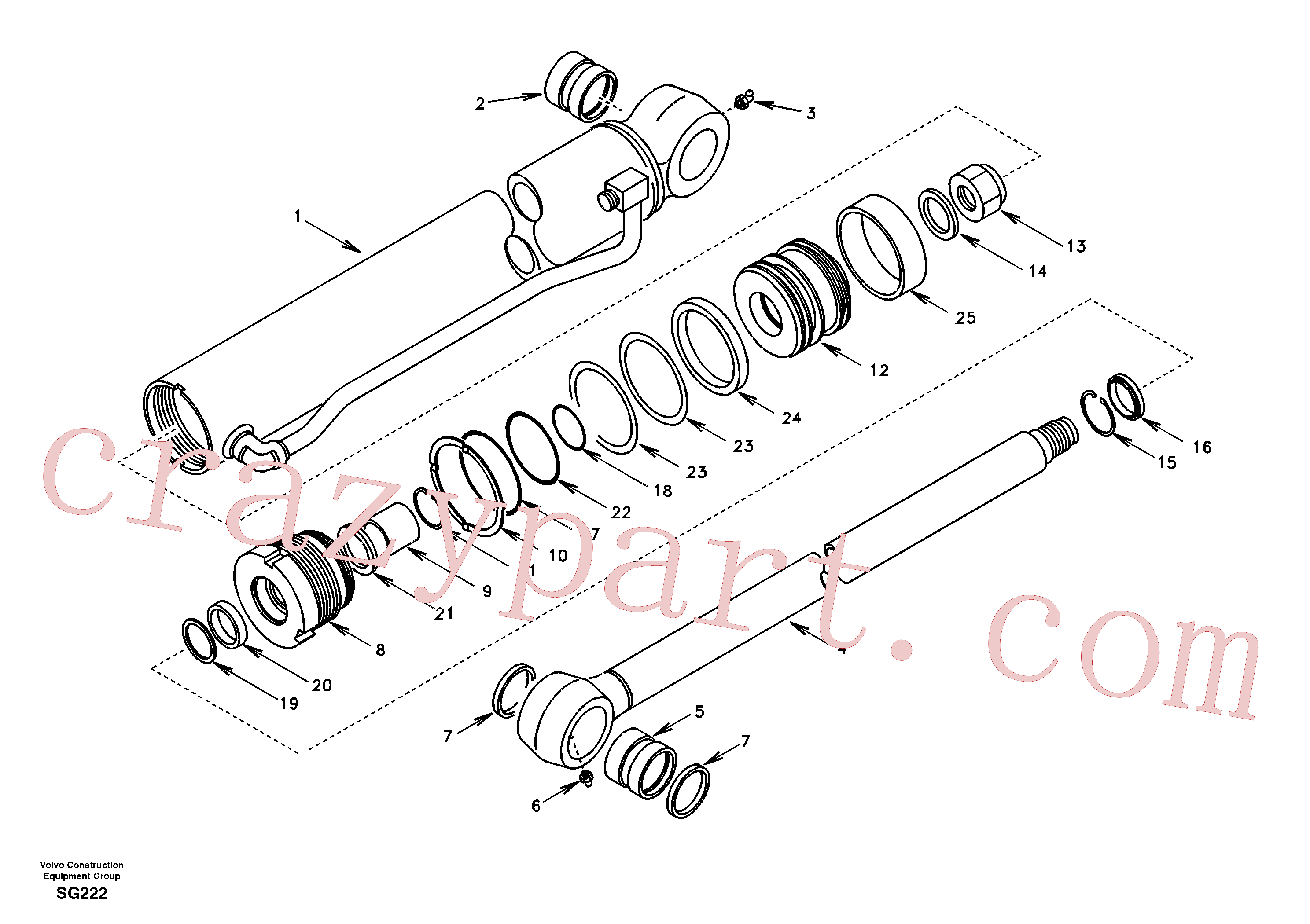 SA9568-00800 for Volvo Bucket cylinder(SG222 assembly)