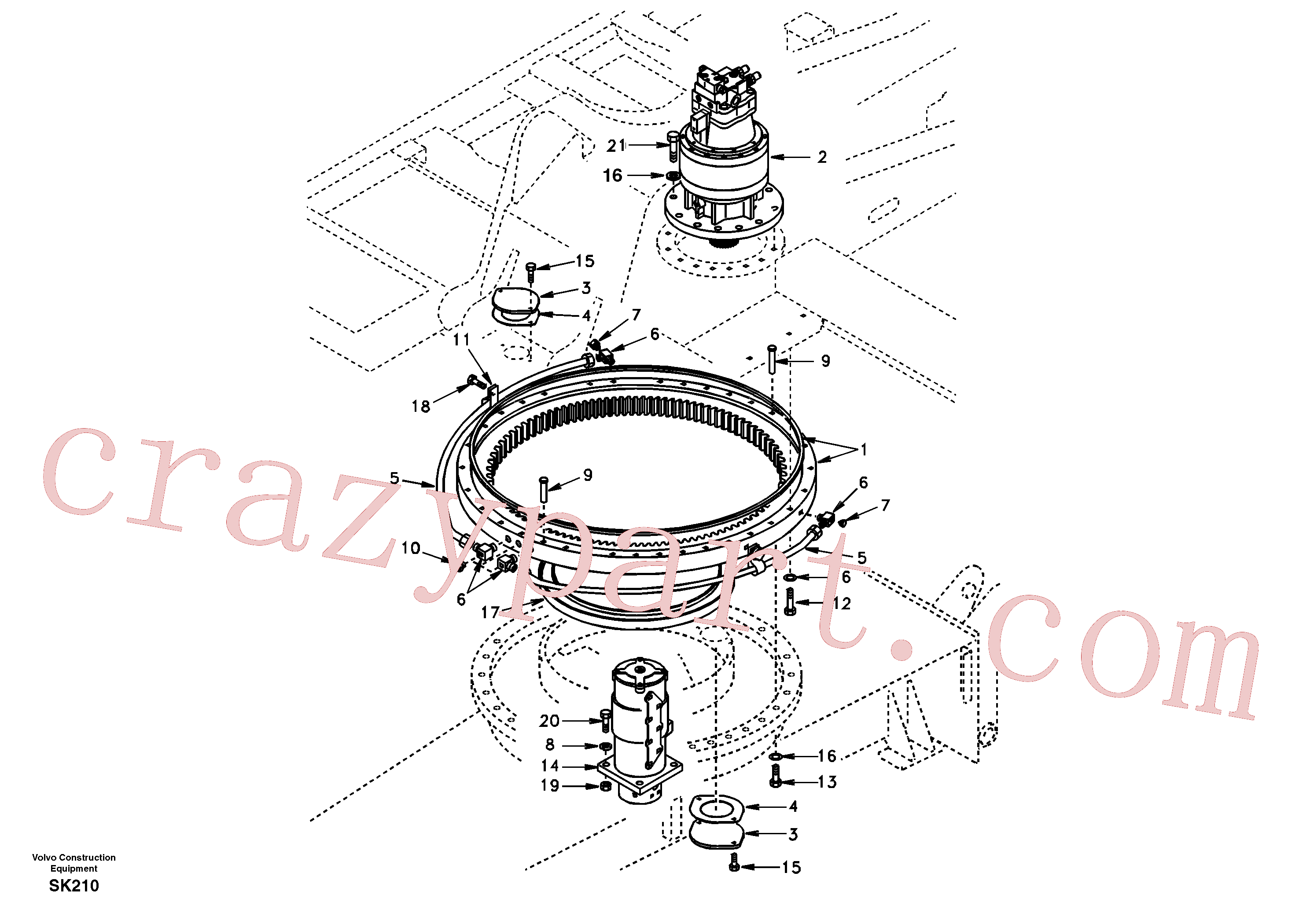 SA1050-62110 for Volvo Swing system(SK210 assembly)