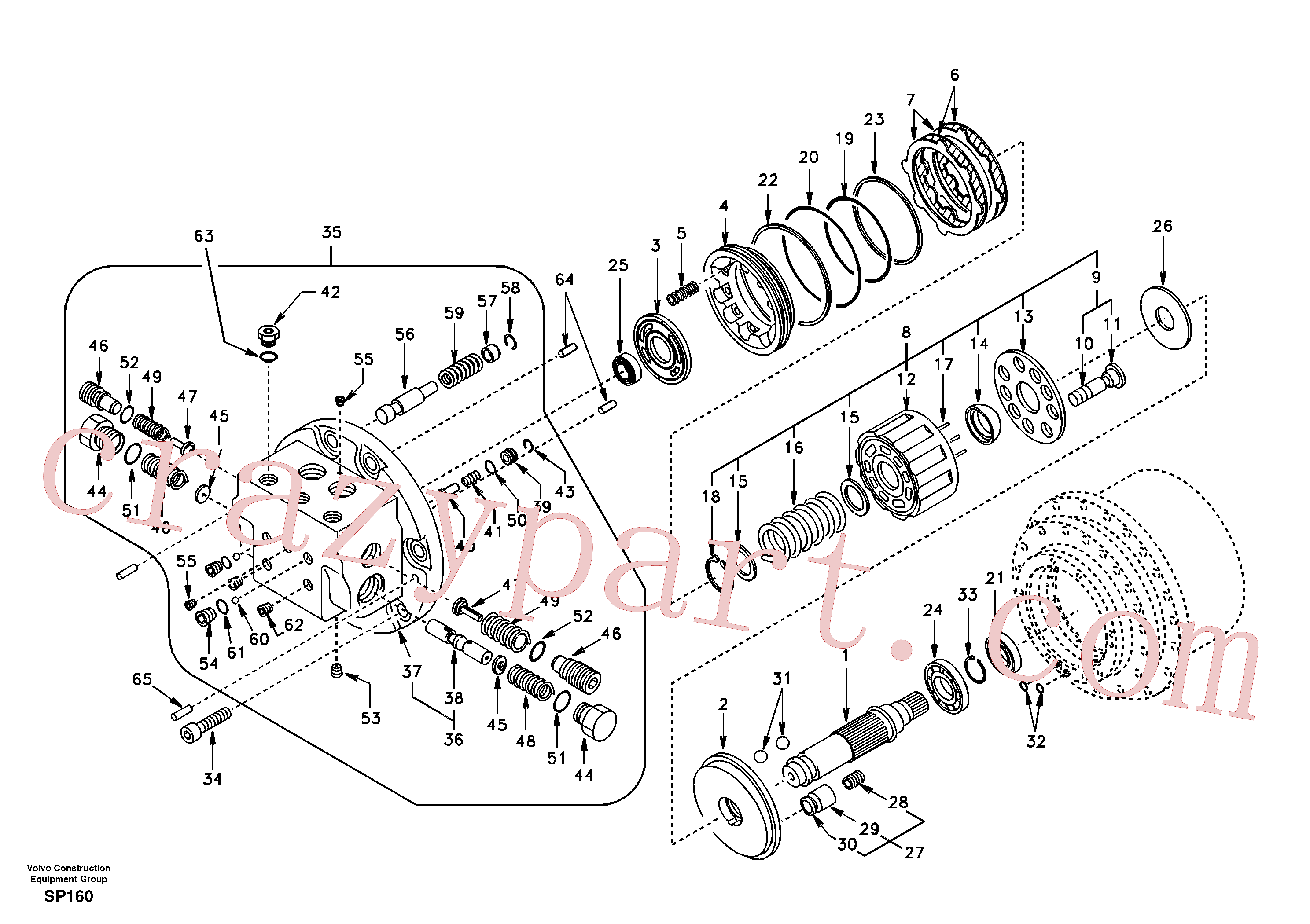 SA8230-10010 for Volvo Travel motor(SP160 assembly)