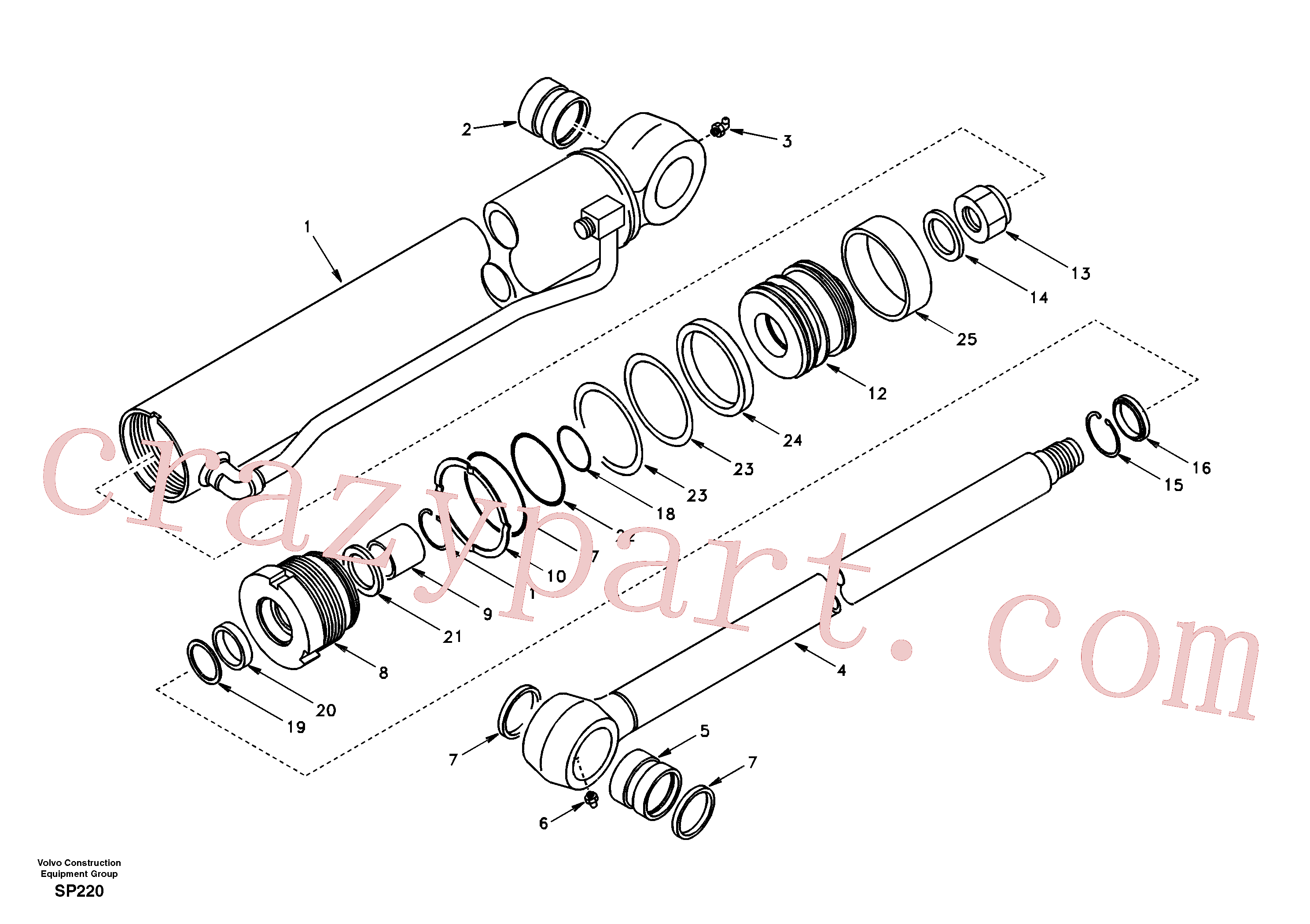 SA9568-00800 for Volvo Bucket cylinder(SP220 assembly)