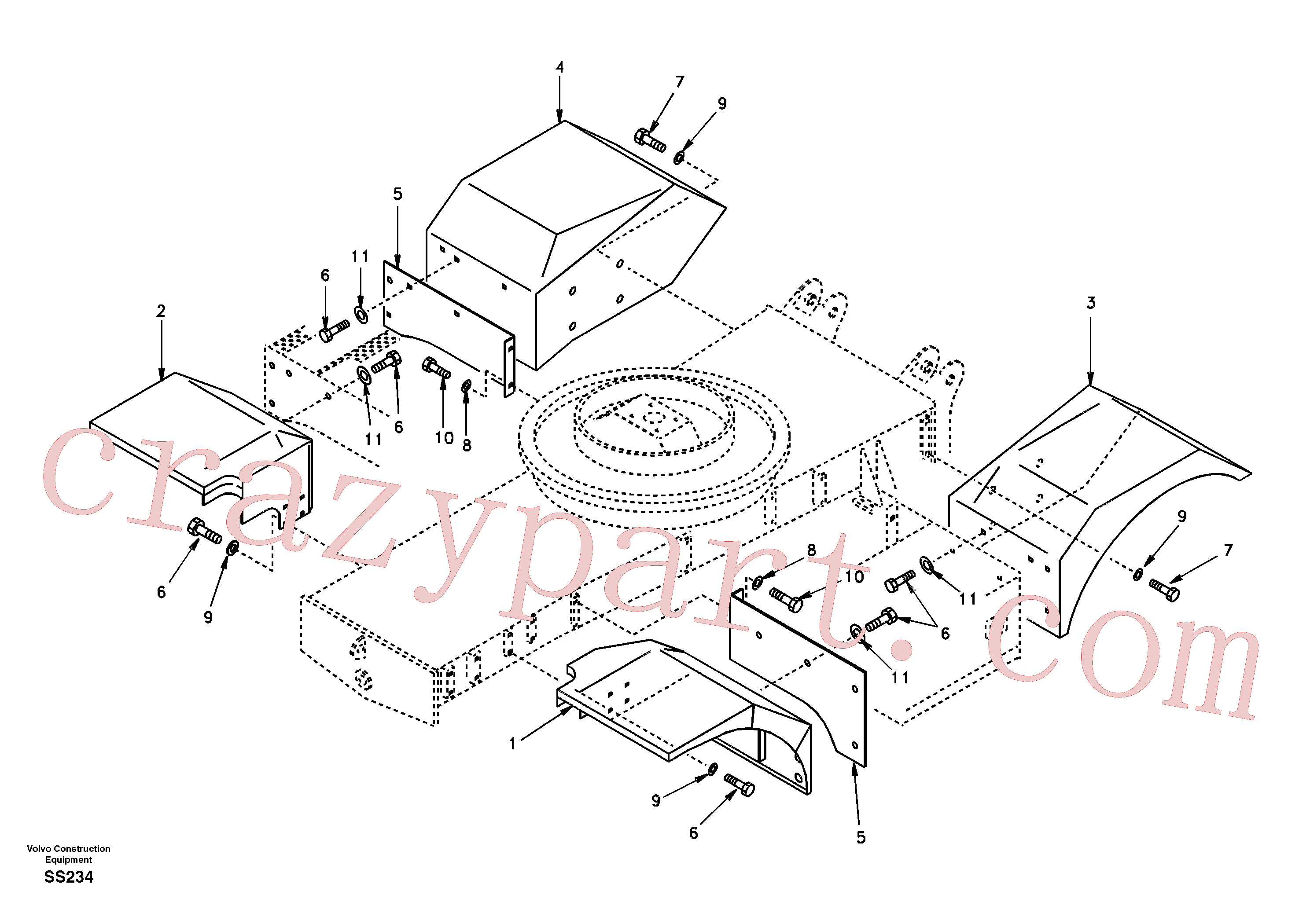 SA14880474 for Volvo Fender(SS234 assembly)