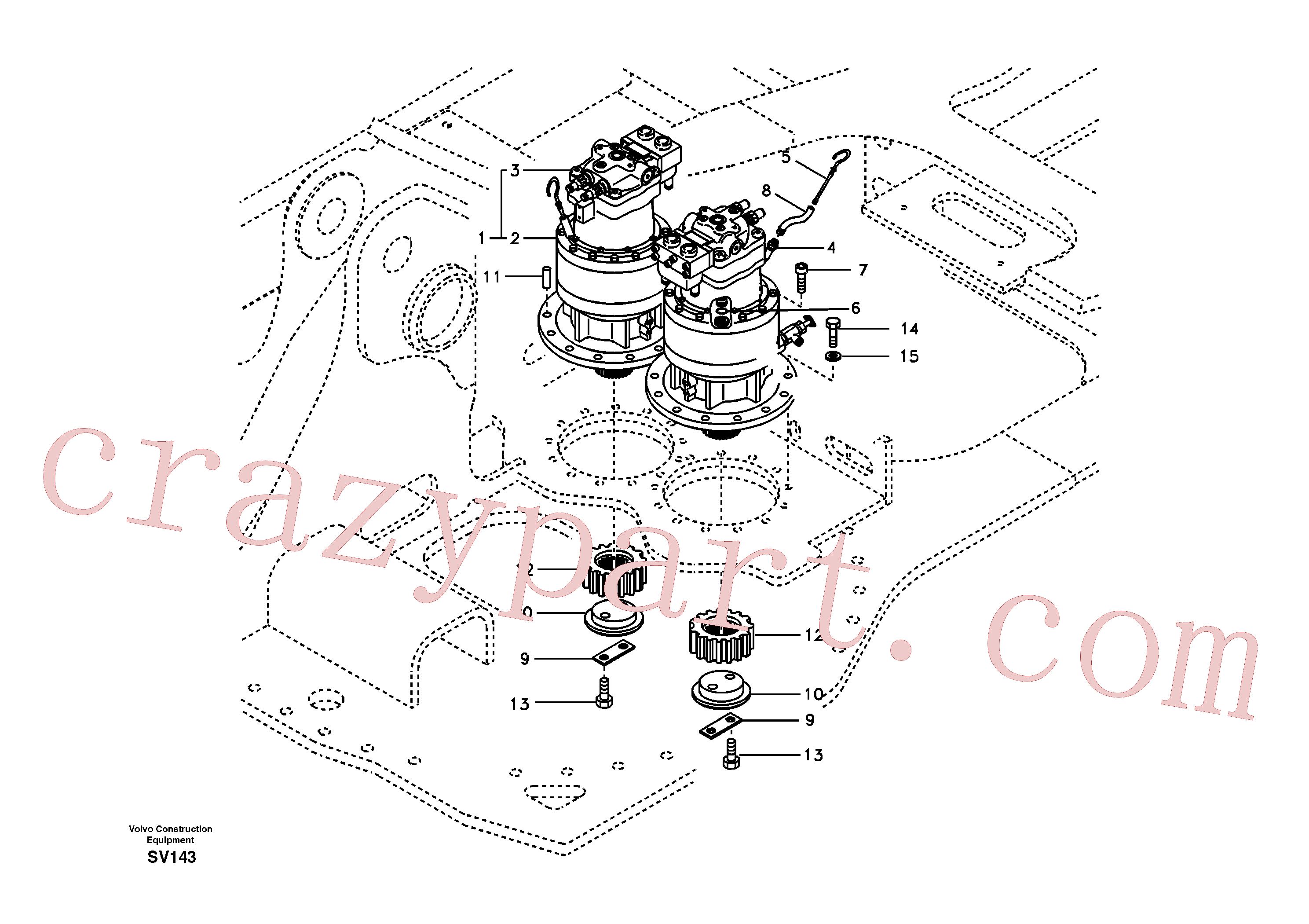 SA7118-30140 Gearbox for Volvo Excavator Parts