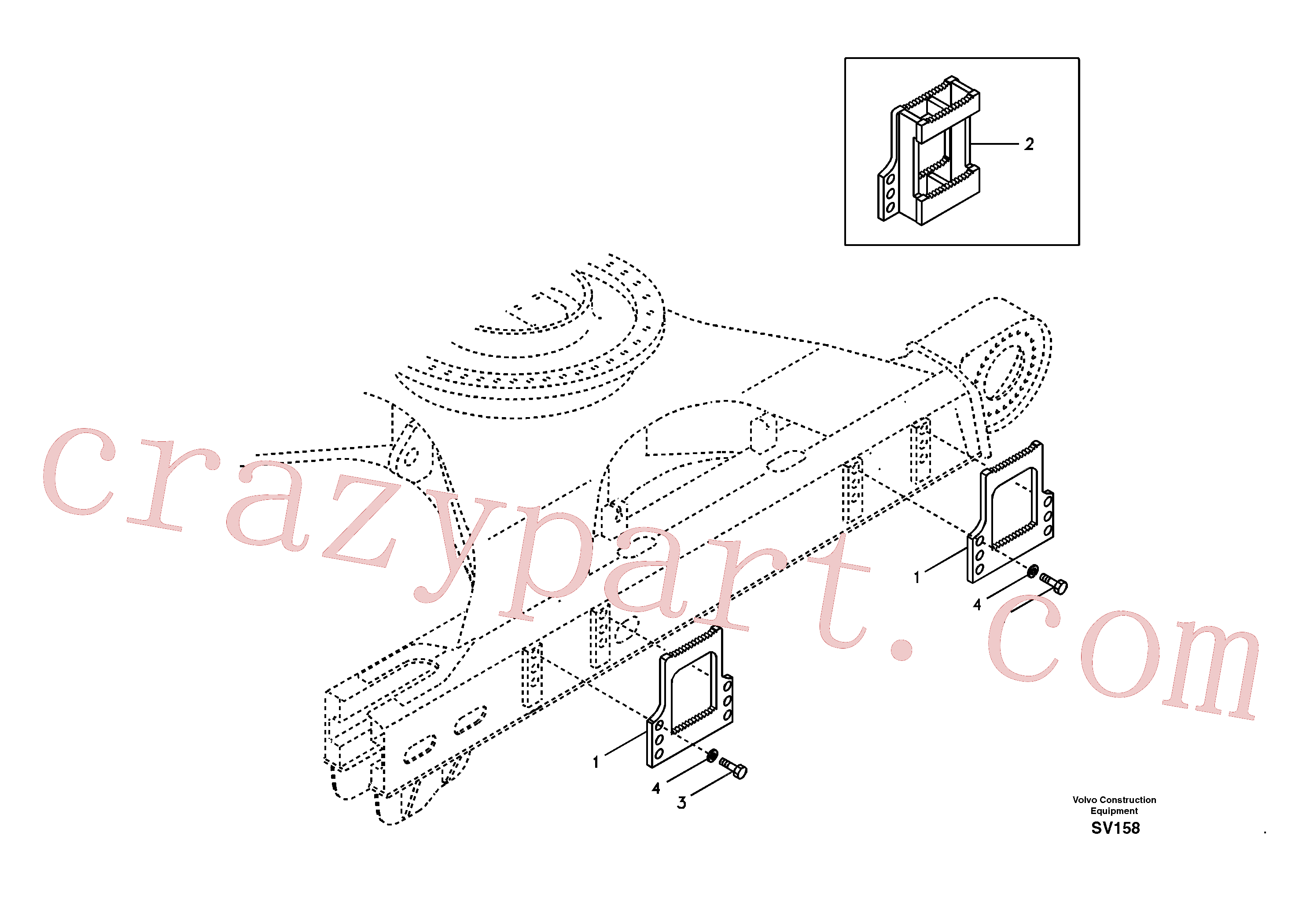 SA14880474 for Volvo Foot step(SV158 assembly)