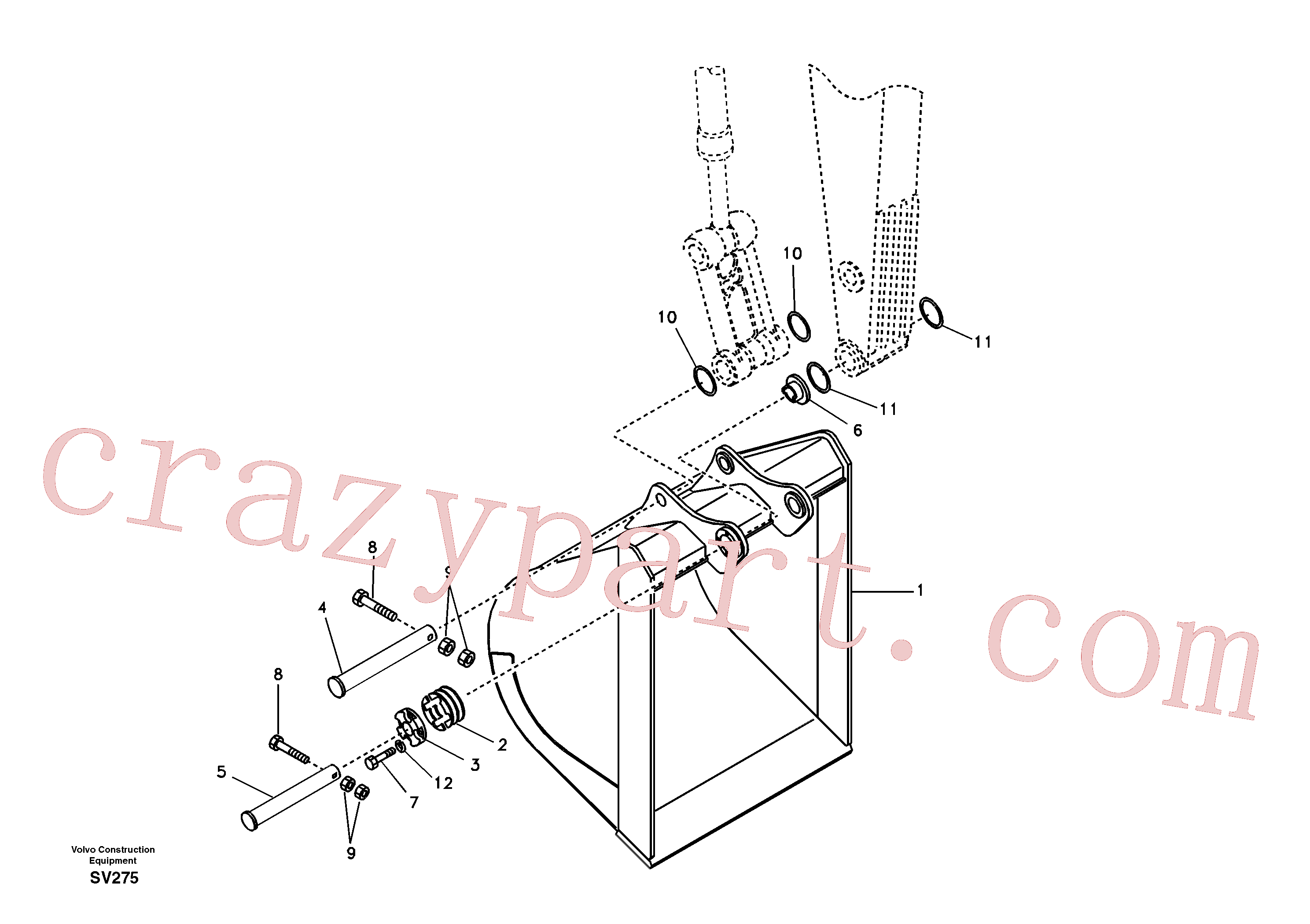 VOE14880695 for Volvo Buckets for long reach(SV275 assembly)