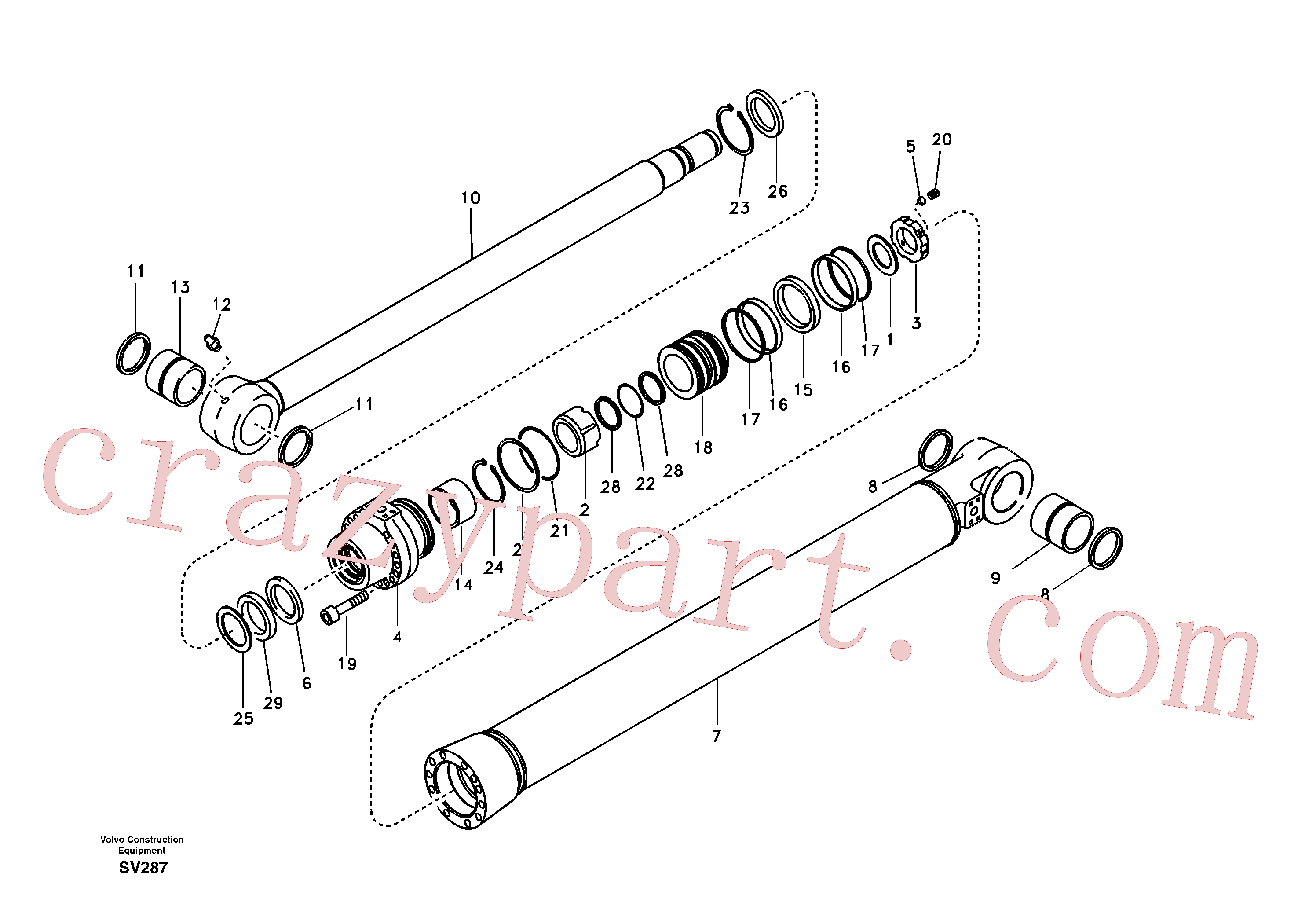 SA1146-05880 for Volvo Bucket cylinder(SV287 assembly)