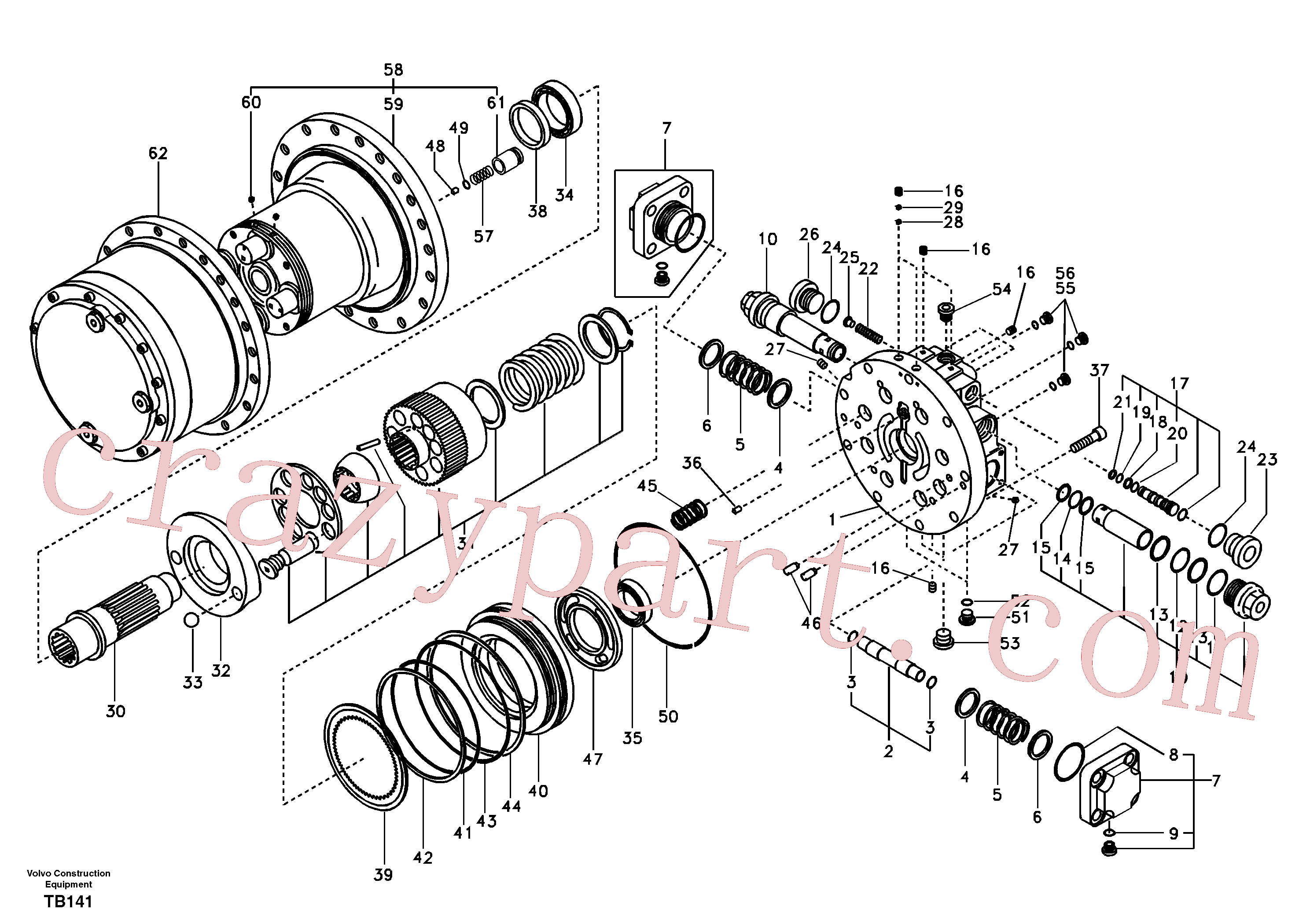 SA8230-32690 for Volvo Travel motor(TB141 assembly)